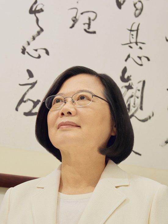 Portrait of President of Taiwan Tsai Ing-wen