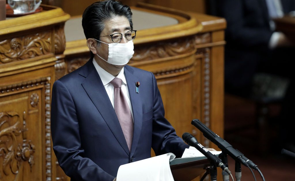 Japan`s Prime Minister Abe Proposes Coronavirus State of...