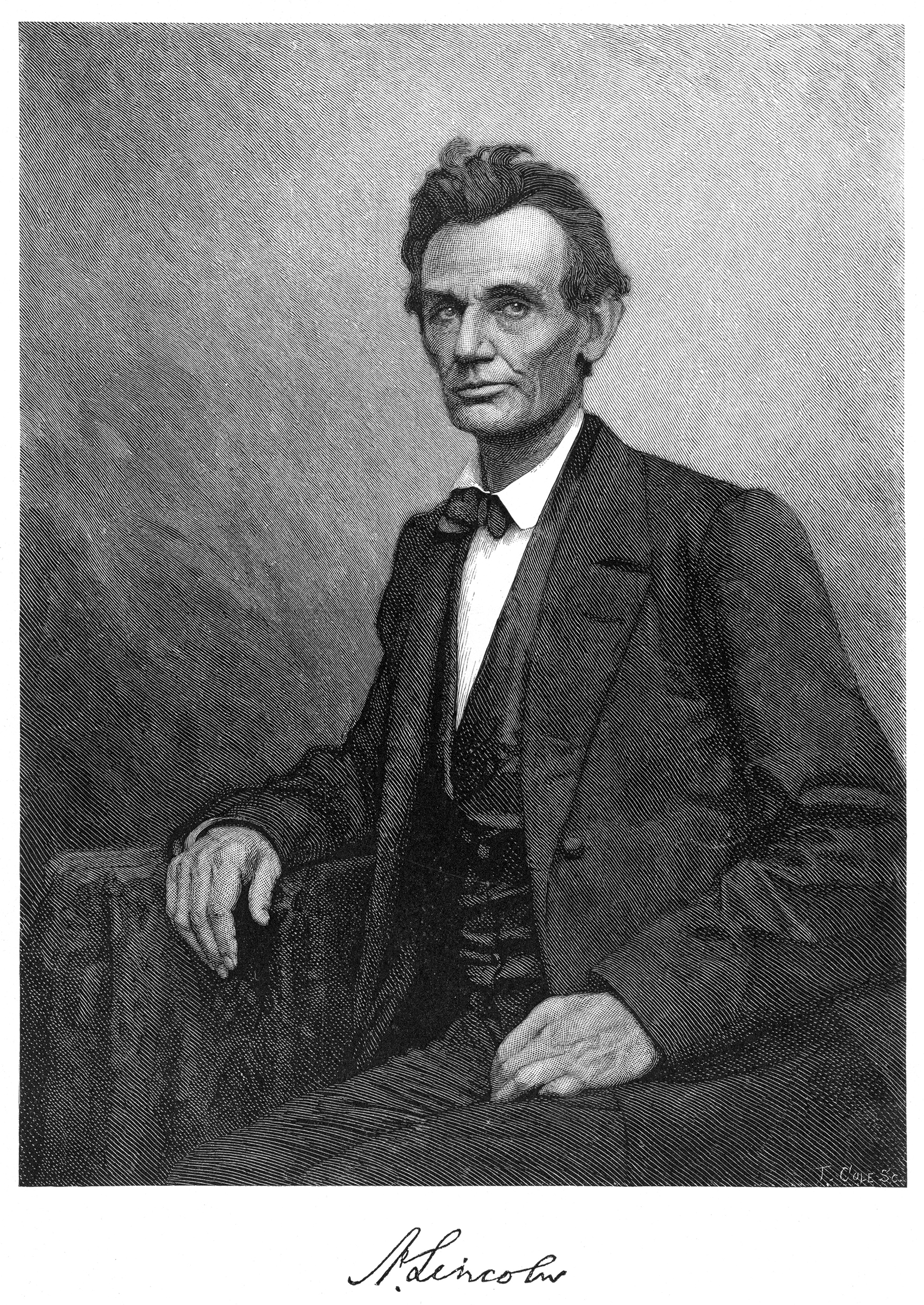 Abraham Lincoln in 1860.