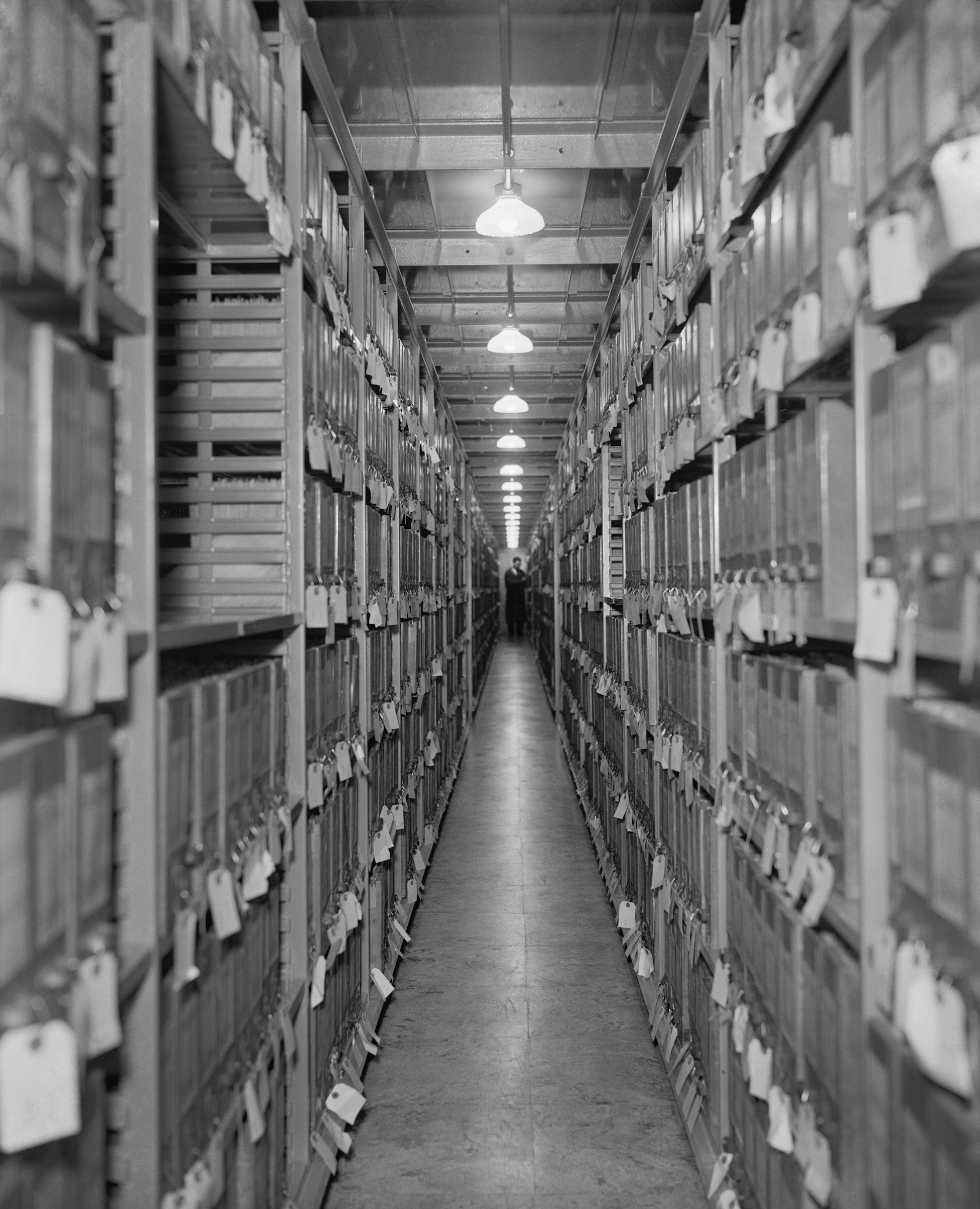 At the National Archives in Washington, D.C., in 1939.