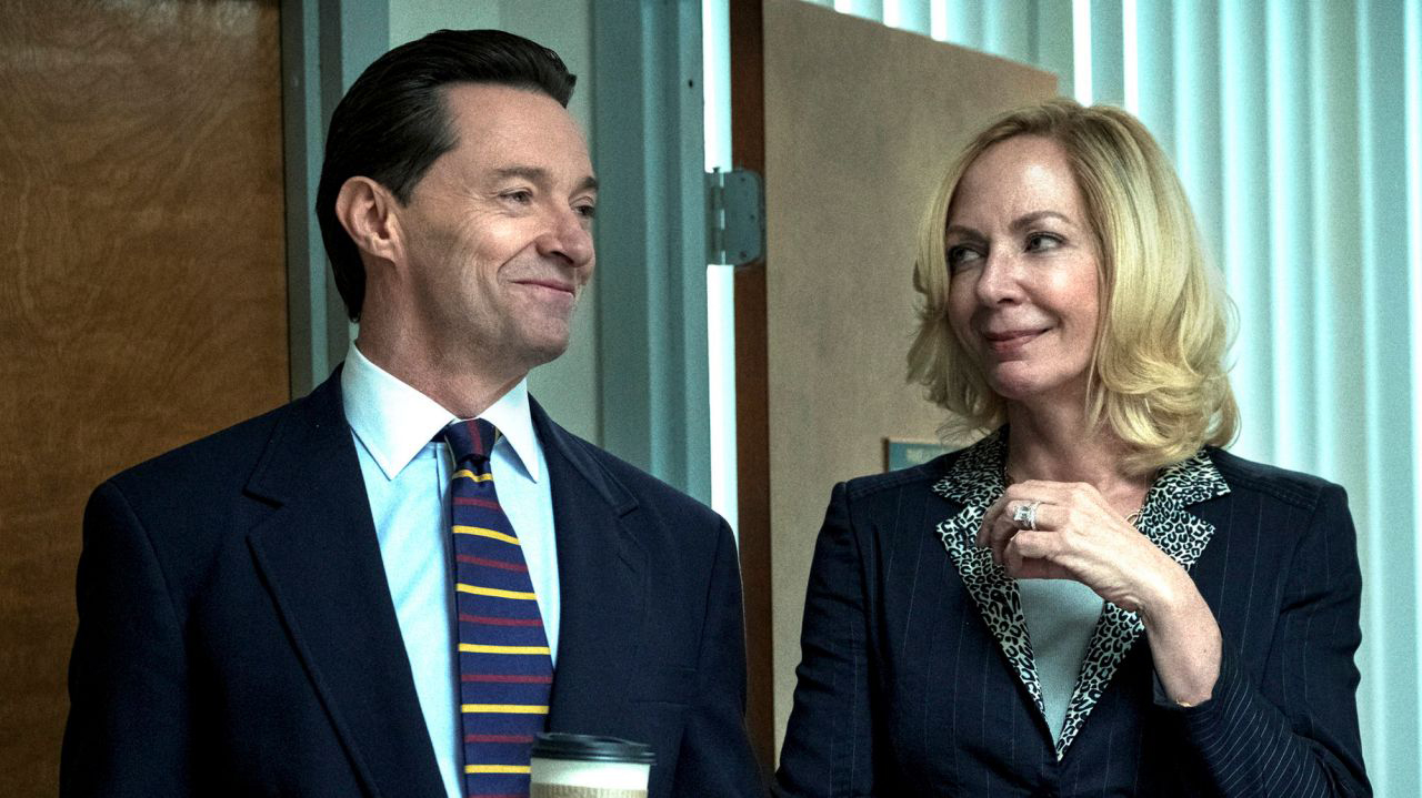 Hugh Jackman and Allison Janney star in HBO's 'Bad Education'.