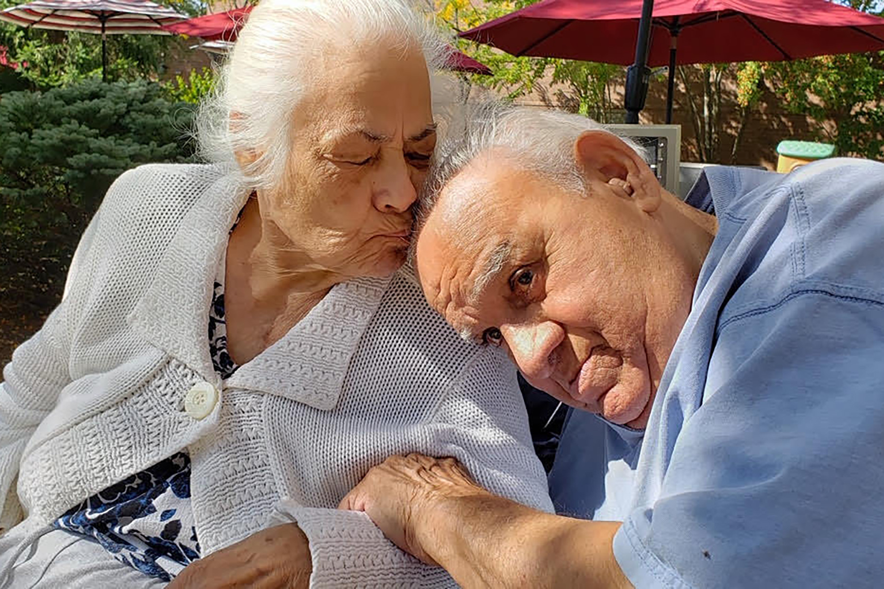Julia Ramos' grandmother, Angelica Mendez, with her husband Pedro Mendez, on their 64th wedding anniversary.
