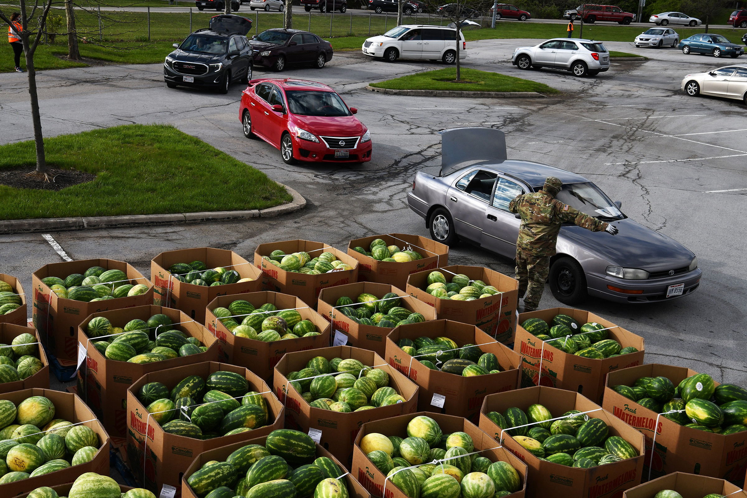 Hundreds of members of the Ohio National Guard were activated March 18, 2020 to support food distribution efforts across Ohio.