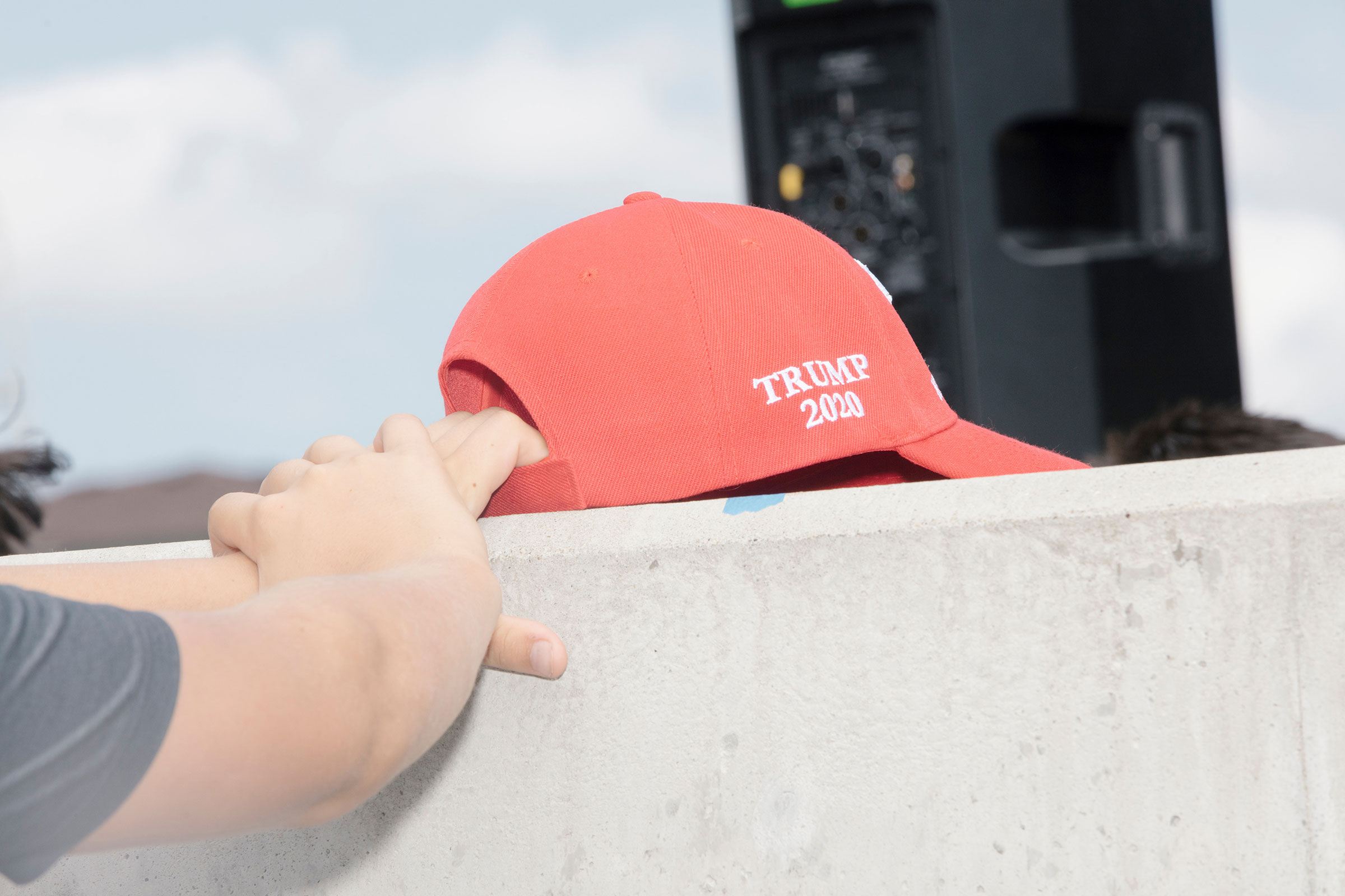 A Trump 2020 hat seen at the Iowa State Fair on Aug. 10, 2019.