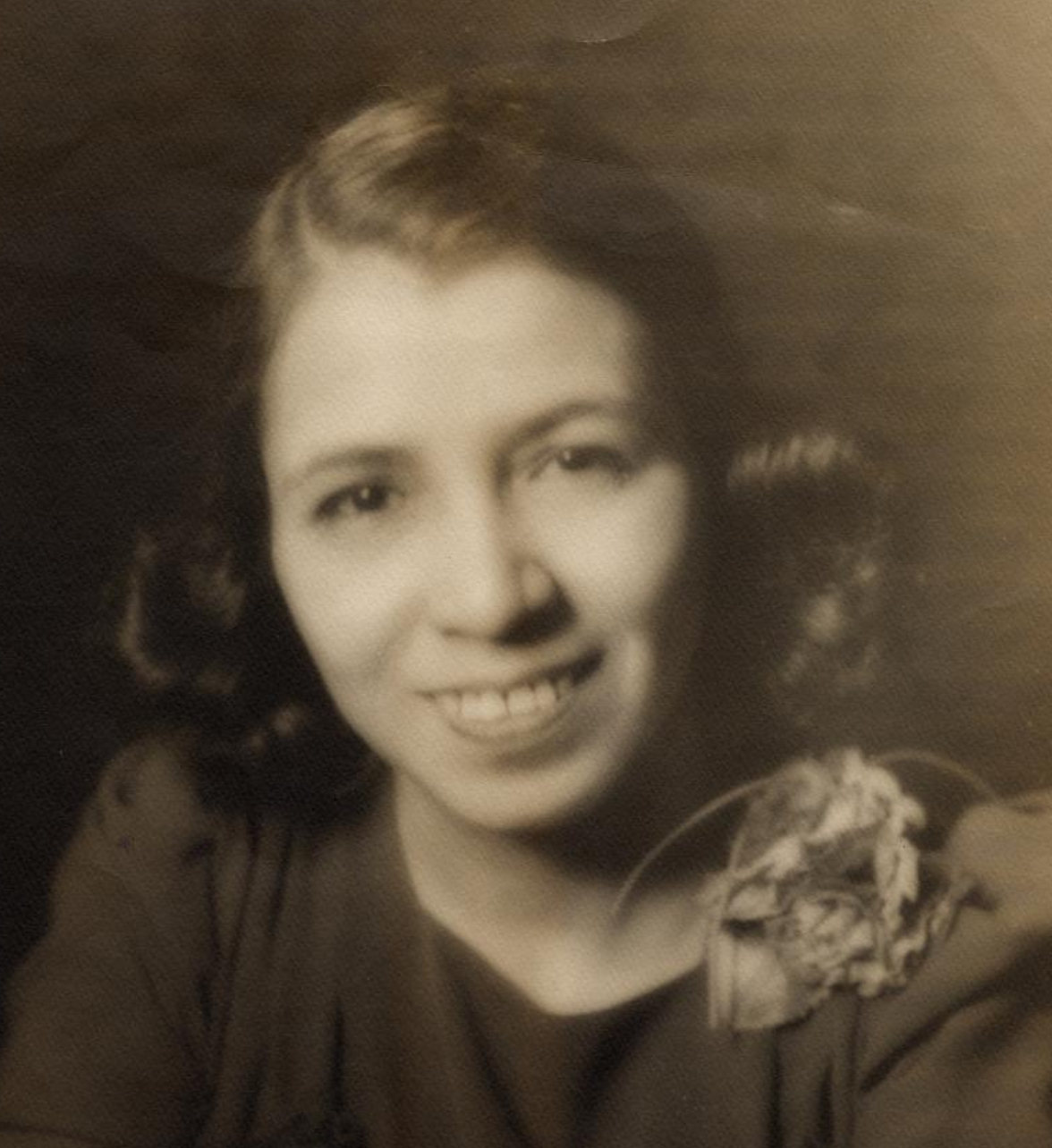 A circa 1930s headshot of Clotilde Arias, who worked in advertising in New York City and composed the Spanish translation of the Star-Spangled Banner that is  the only official translation of the national anthem allowed to be sung,  according to the Smithsonian Institution.