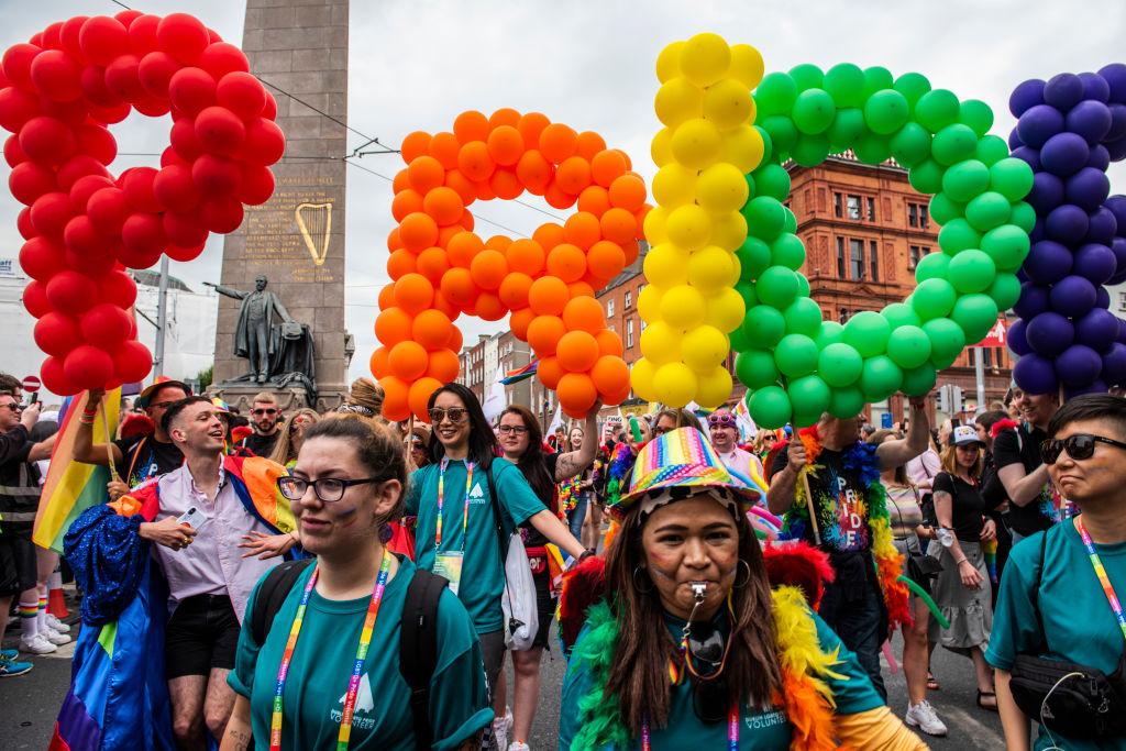 People take a part in Pride Parade in Dublin. Saturday 29 June 2019, Dublin, Ireland.