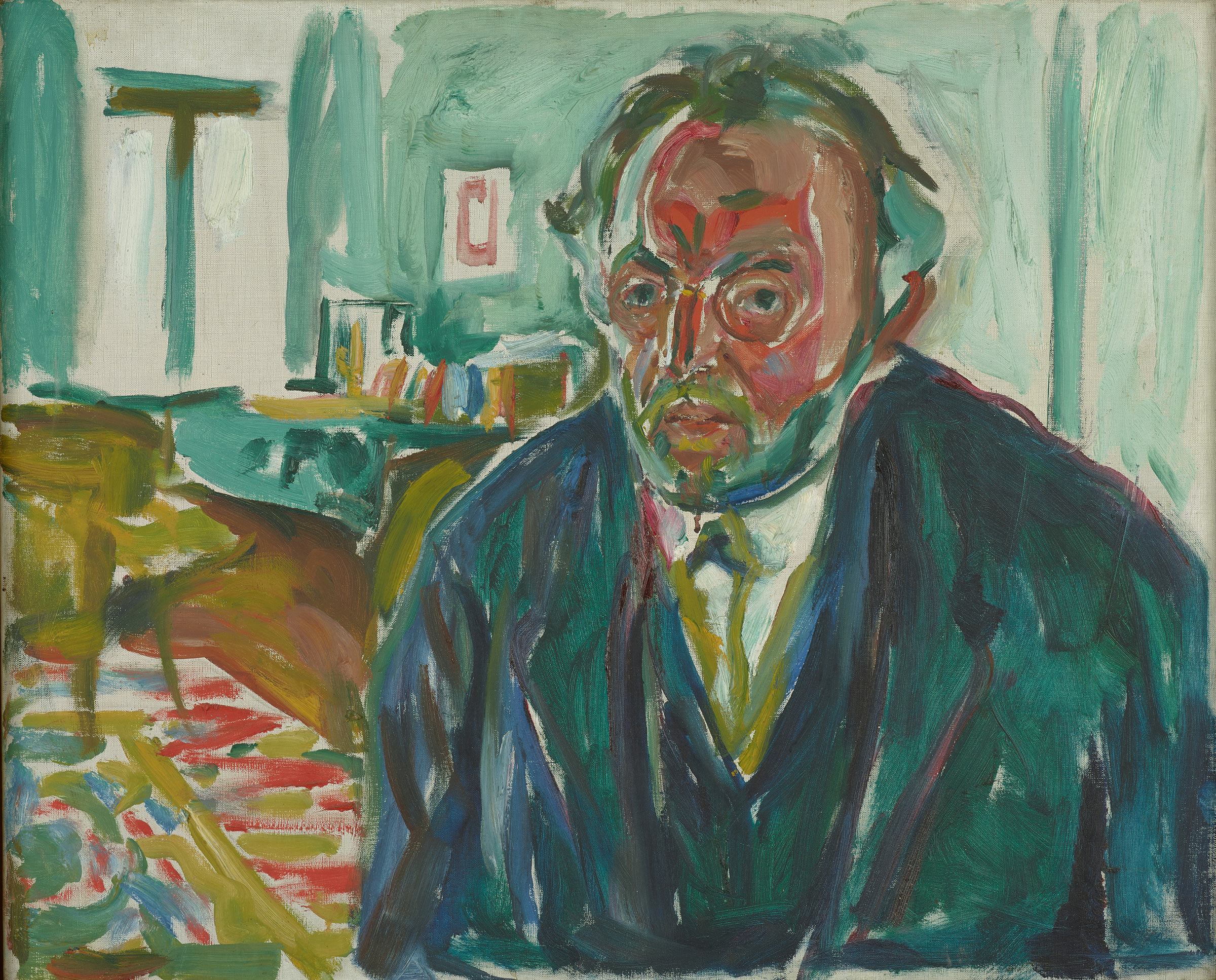 Edvard Munch's  Self-Portrait after the Spanish Flu,  1919