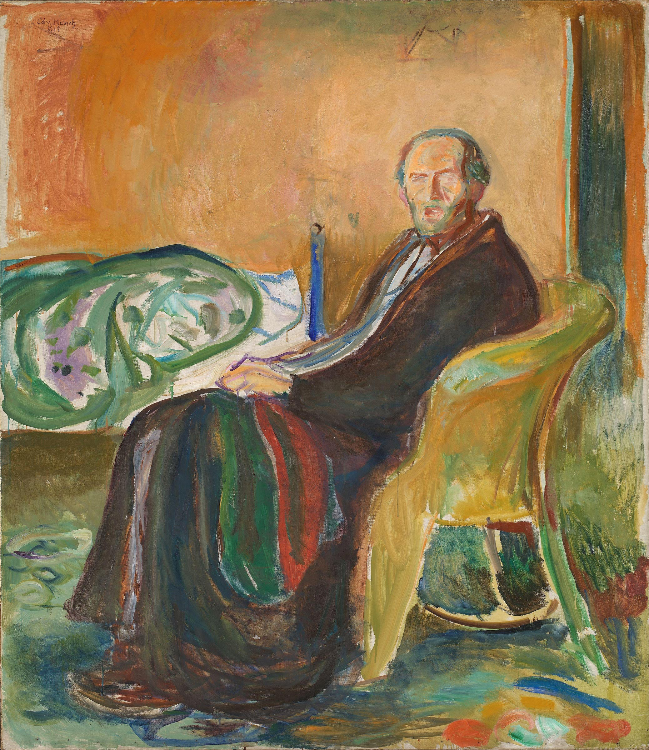 Edvard Munch's  Self-Portrait with the Spanish Flu,  1919