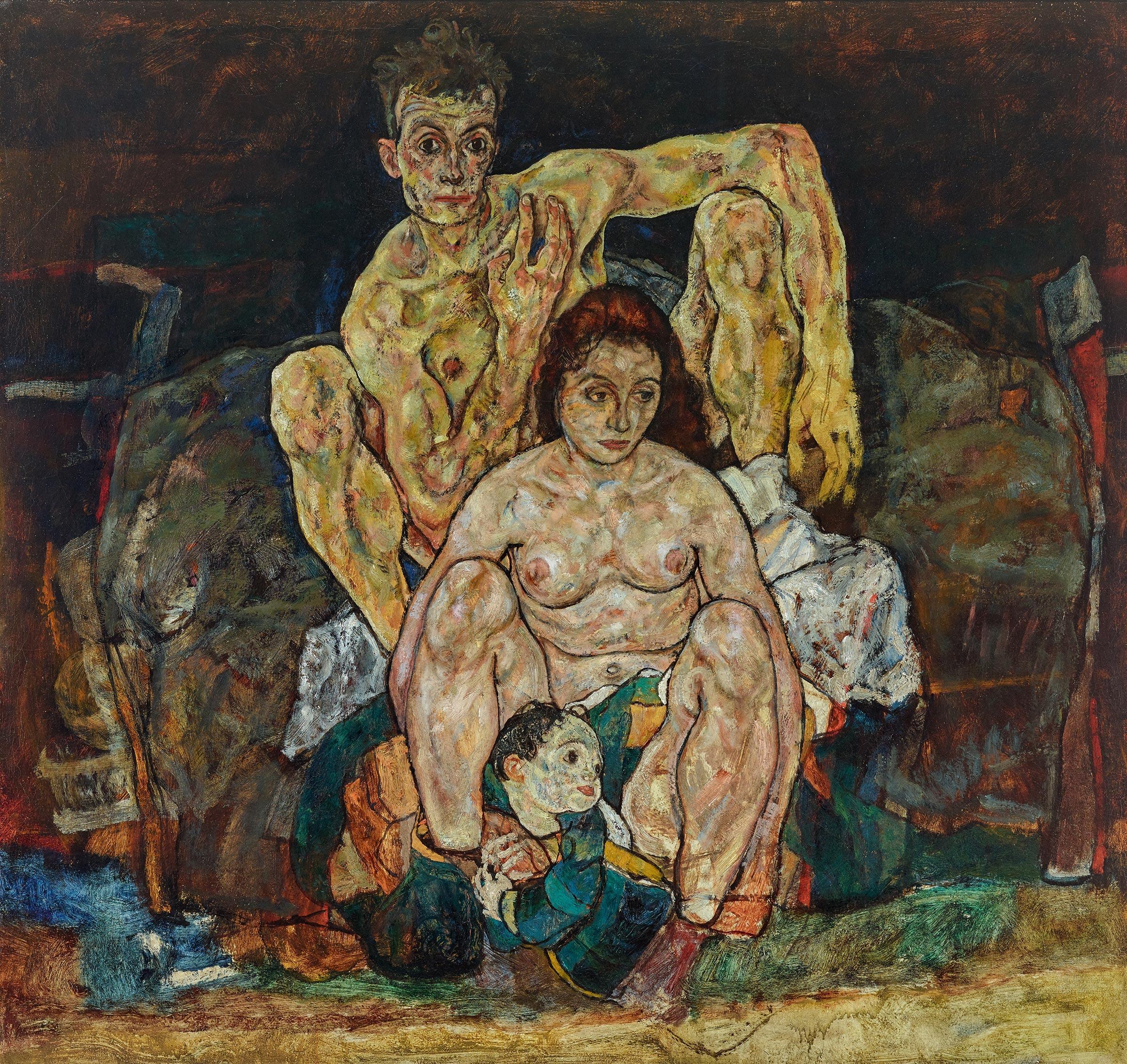 Egon Schiele's  The Family,  1918