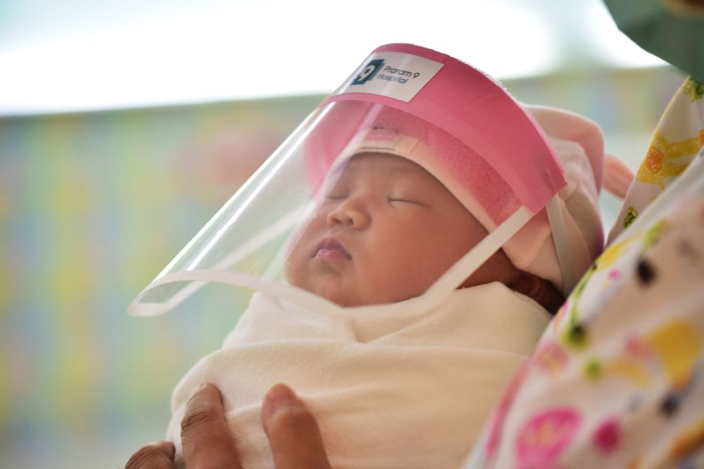Thai Hospital Gives Newborns Tiny Face Shields Due to COVID-19 | Time