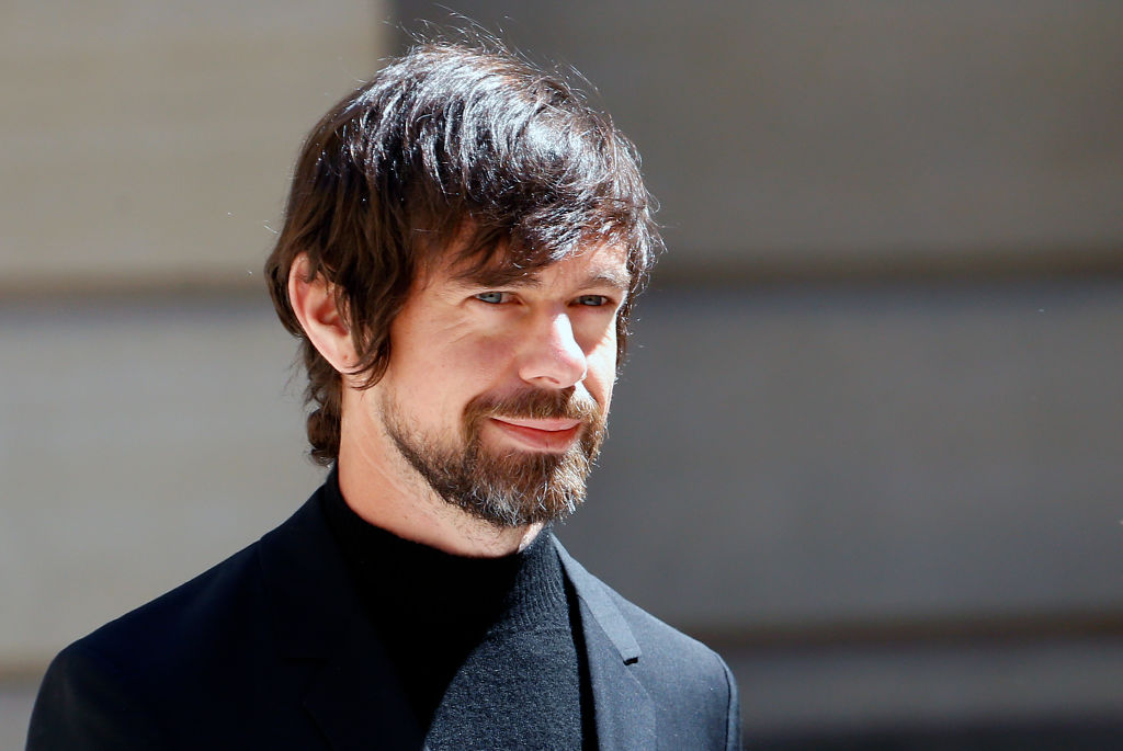 CEO of Twitter Inc. and Square Inc. Jack Dorsey arrives to attend the  Tech for Good  Summit at Hotel de Marigny on May 15, 2019 in Paris, France.