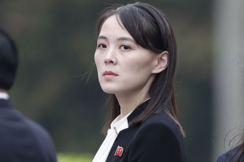 Kim Yo Jong, sister of North Korean leader Kim Jong Un, attends a wreath laying ceremony at the Ho Chi Minh Mausoleum in Hanoi, Vietnam, on March 2, 2019.