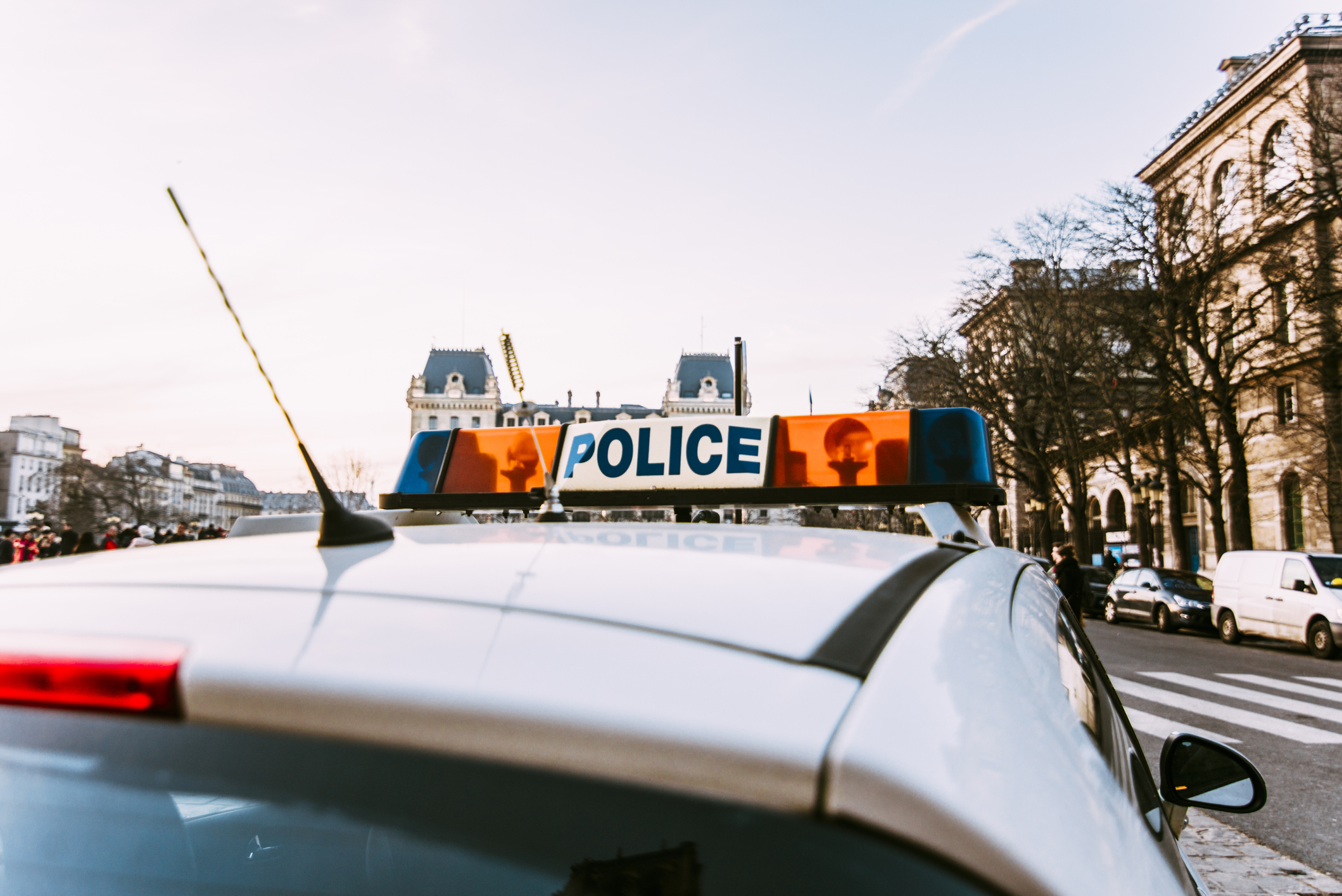 The siren of a french police car in Paris