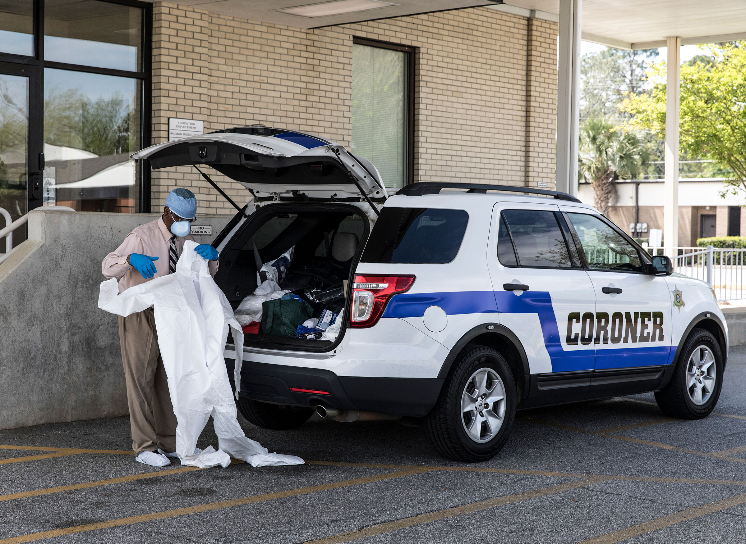 Michael Fowler is the coroner of Dougherty County, Ga. The county had the most coronavirus-related deaths in the state as of April 8, 2020.