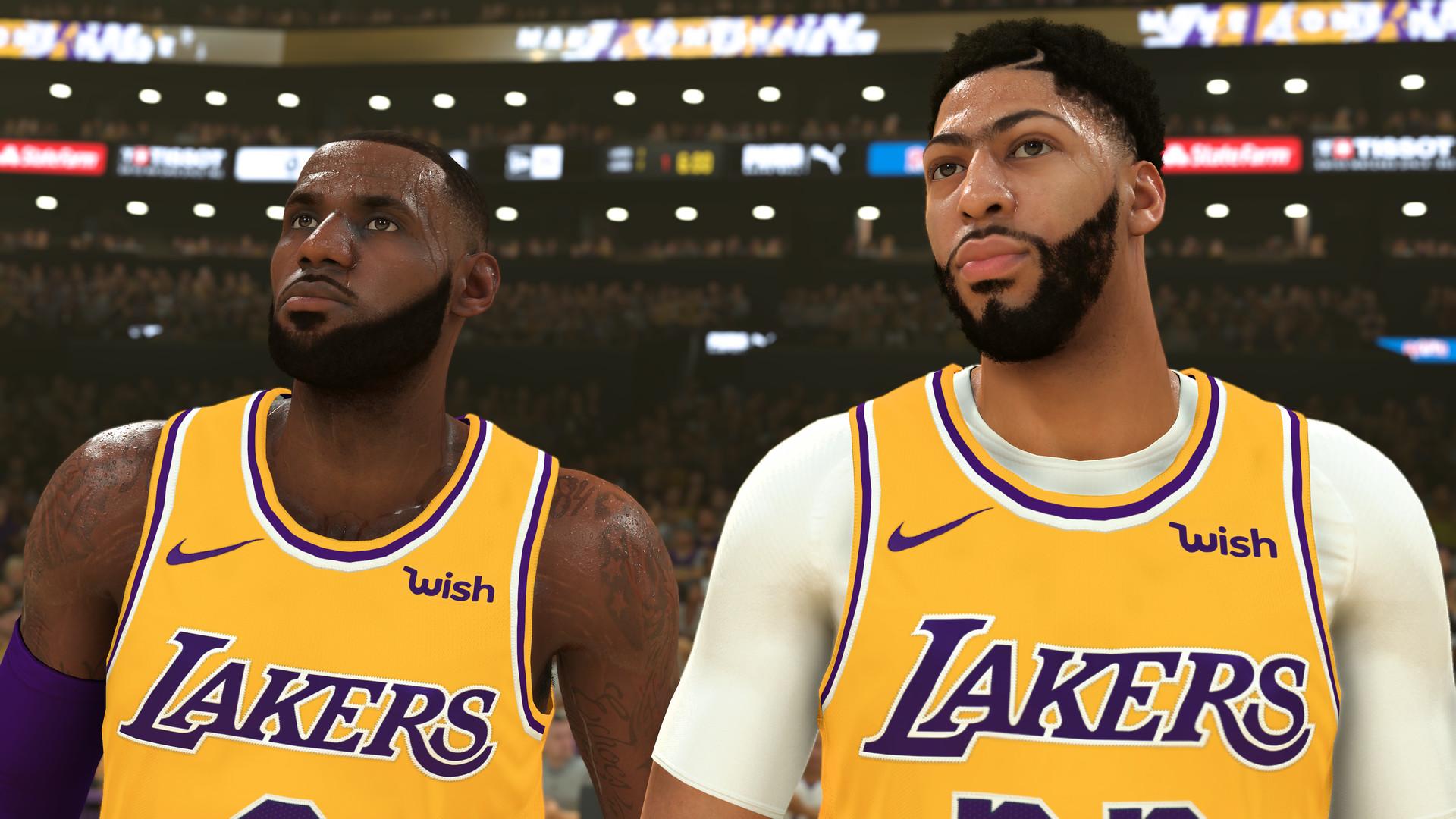 A screenshot from NBA 2K20.