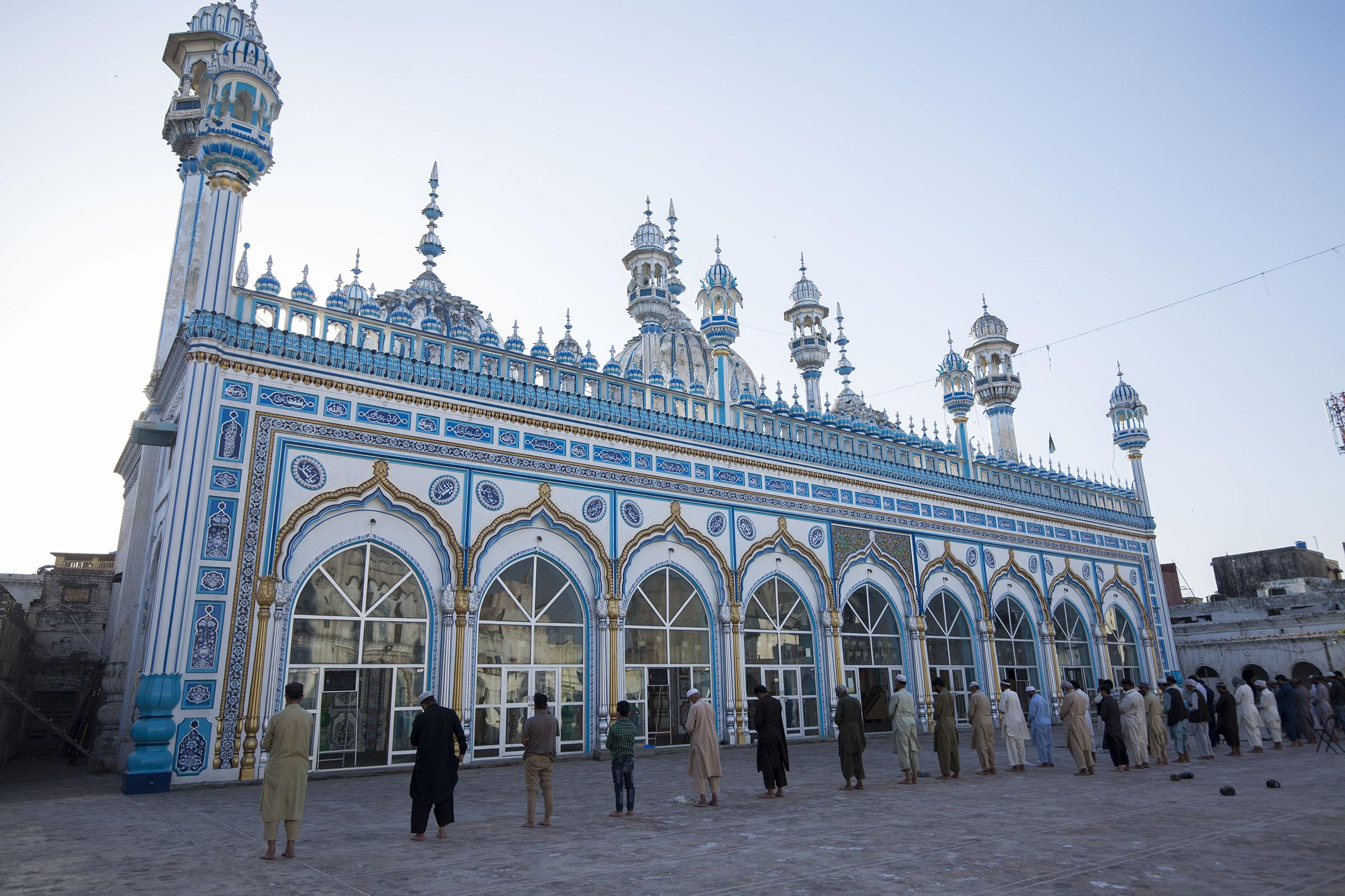 Praying at Jamia Masjid mosque in Rawalpindi, Pakistan, on April 23, 2020, during the coronavirus pandemic.