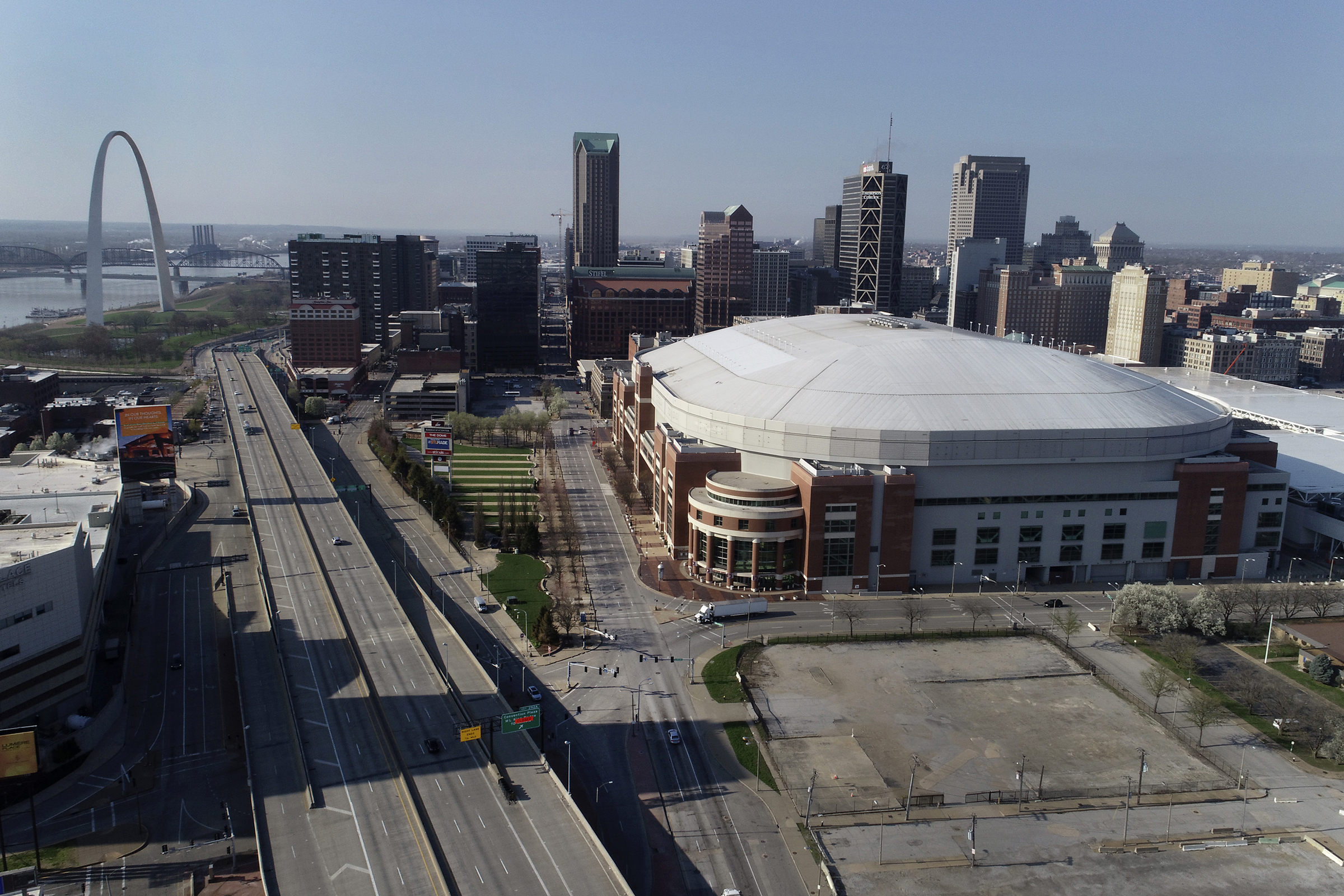The Dome at America's Center Wednesday, April 1, 2020, in St. Louis, Missouri.