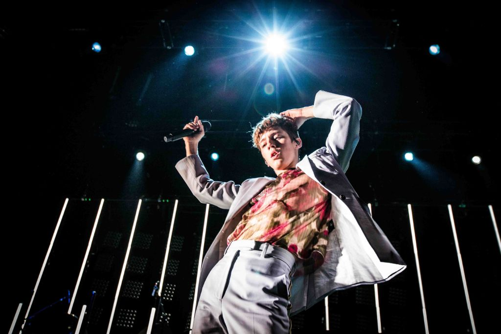 The South African-Australian singer, songwriter and actor Troye Sivan performs a live concert at Forum in Copenhagen.