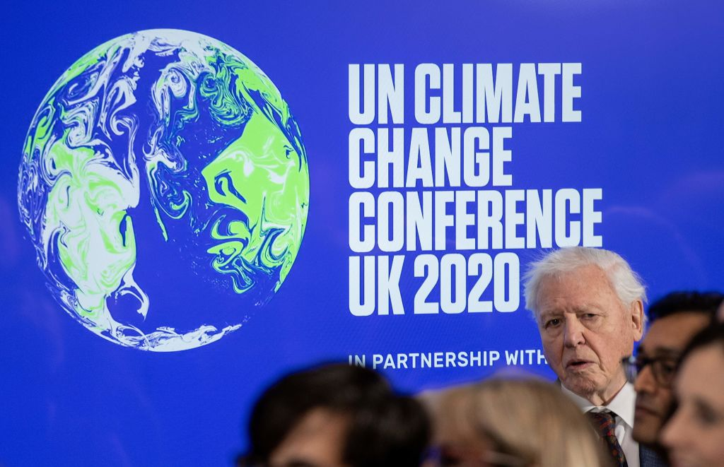 British broadcaster and conservationist David Attenborough speaks during an event to launch the United Nations' Climate Change conference, COP26, in central London on February 4, 2020.