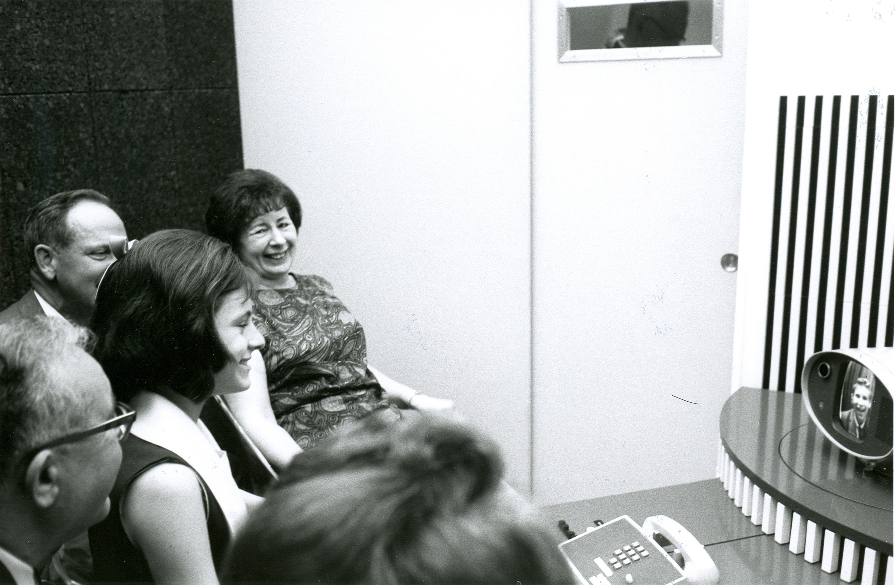 The first Picturephone call from Chicago to NYC, between deaf students, in 1964
