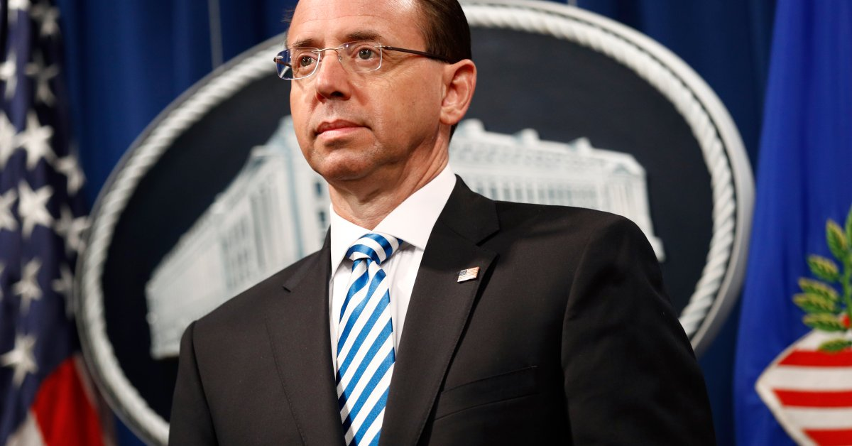 Sen. Graham Calls Former Deputy AG Rosenstein as First Witness in Russia Inquiry