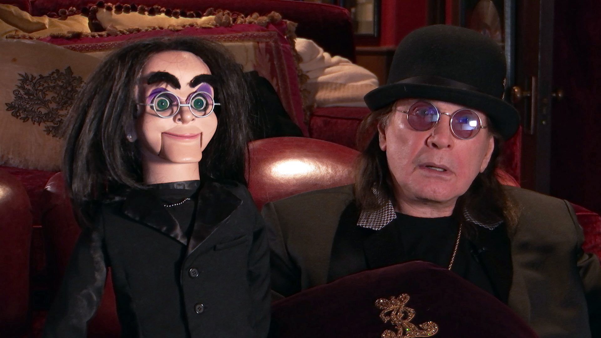 Ozzy Osbourne (right) on 'Celebrity Watch Party'