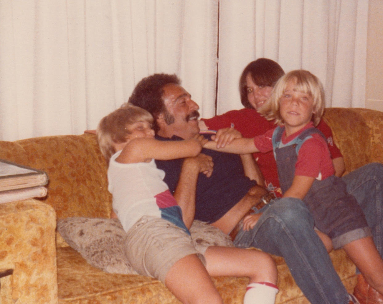 Mikel Jollett with his father, brother Tony and Bonnie Lou Jollett