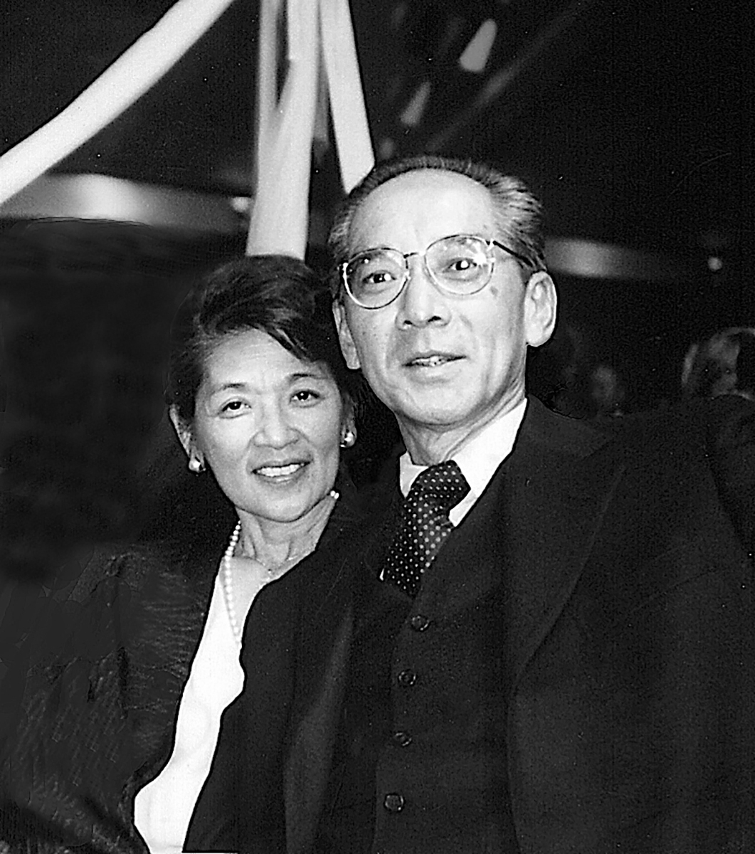 Emma Gee and Yuji Ichioka among charter founders and early supporters honored in 1999 at the 30th anniversary celebration of the establishment of the Asian American Studies Center at UCLA.