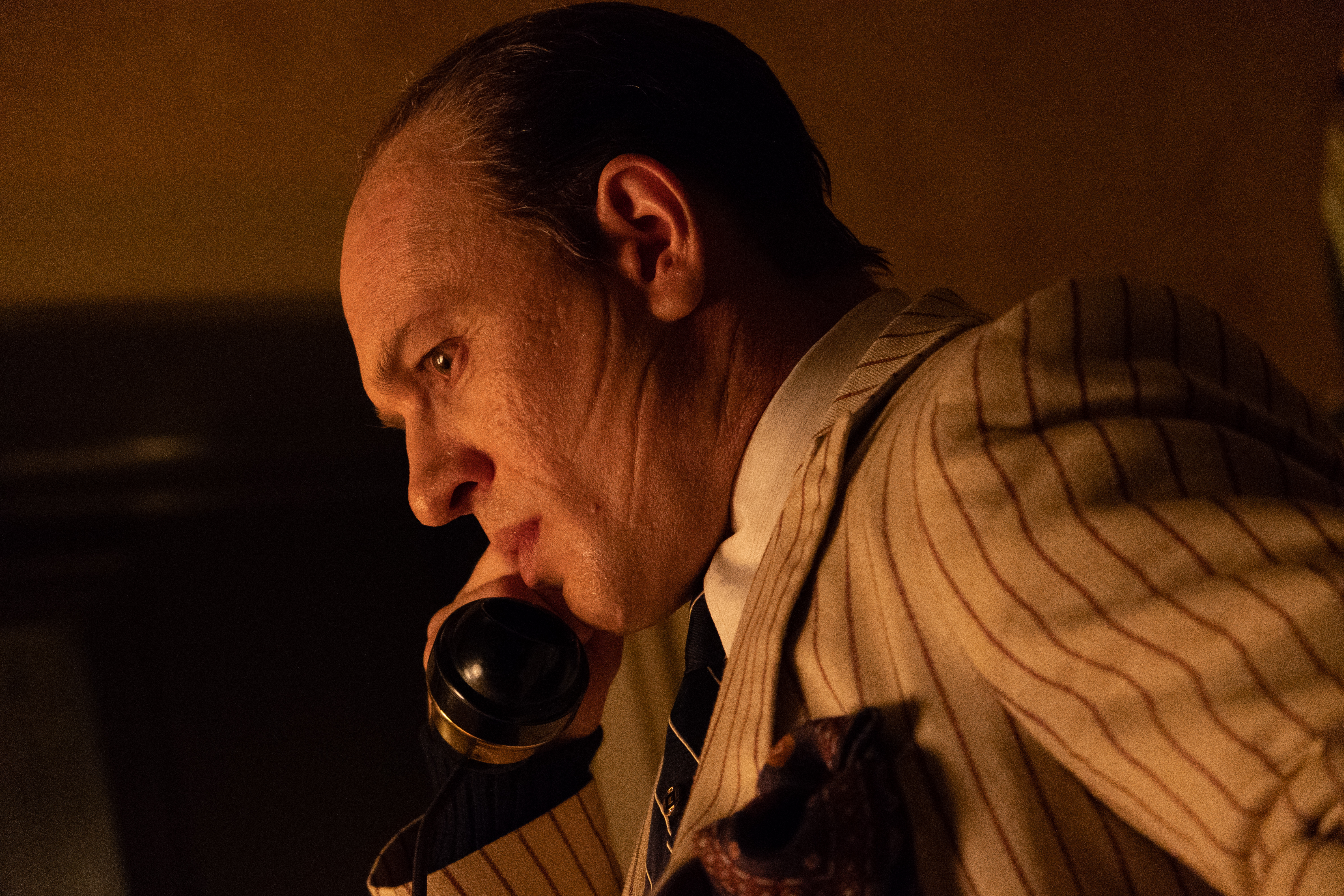 Tom Hardy as the infamous gangster Alfonse Capone