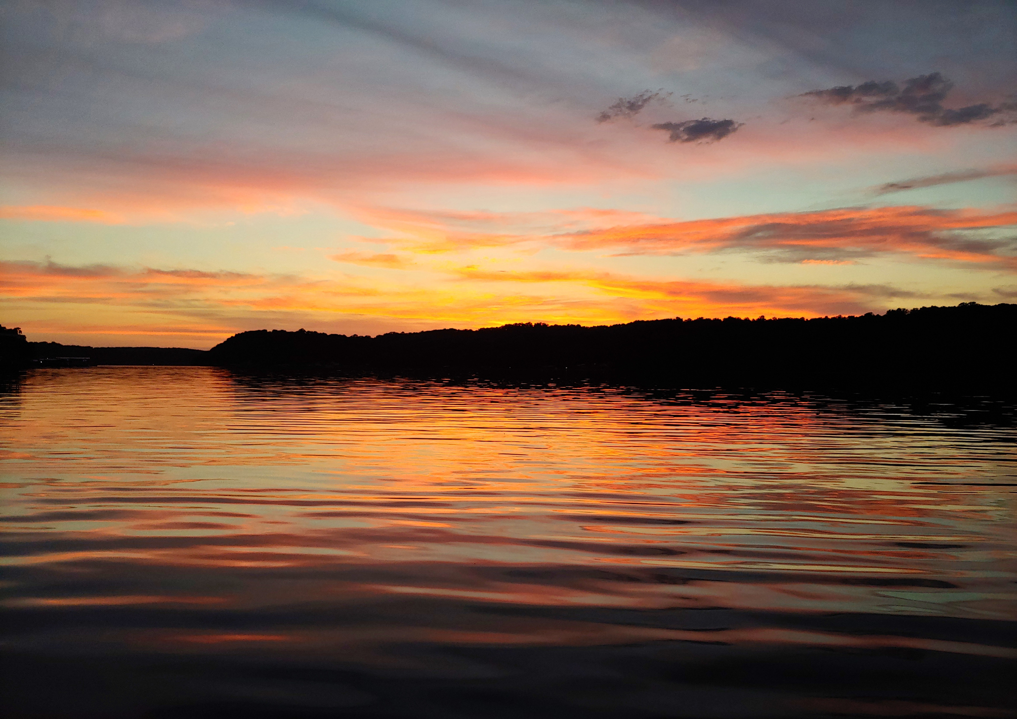 Vibrant sunset on the 69mm, Lake of the Ozarks, Missouri.