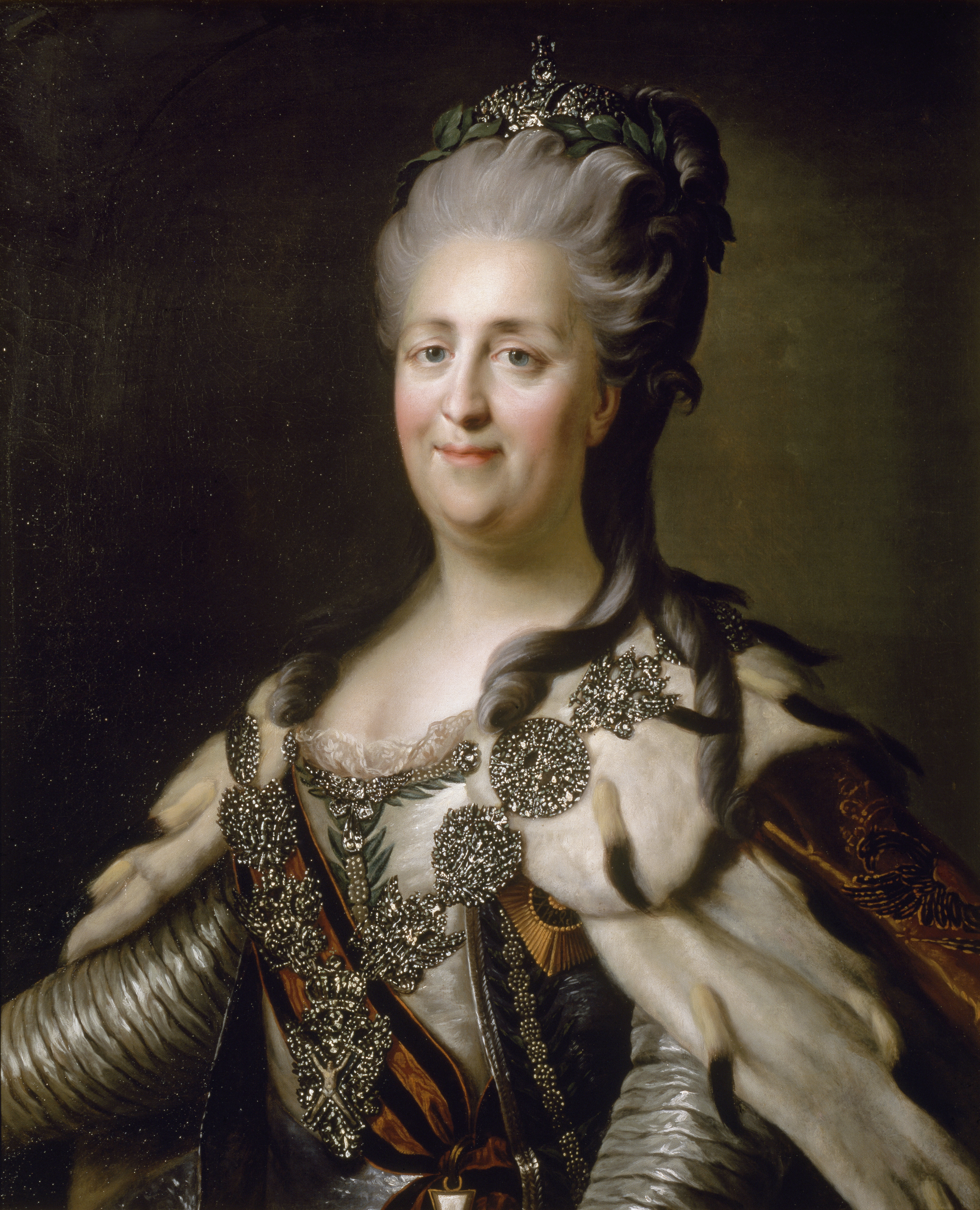 Portrait of Catherine II of Russia by an anonymous painter