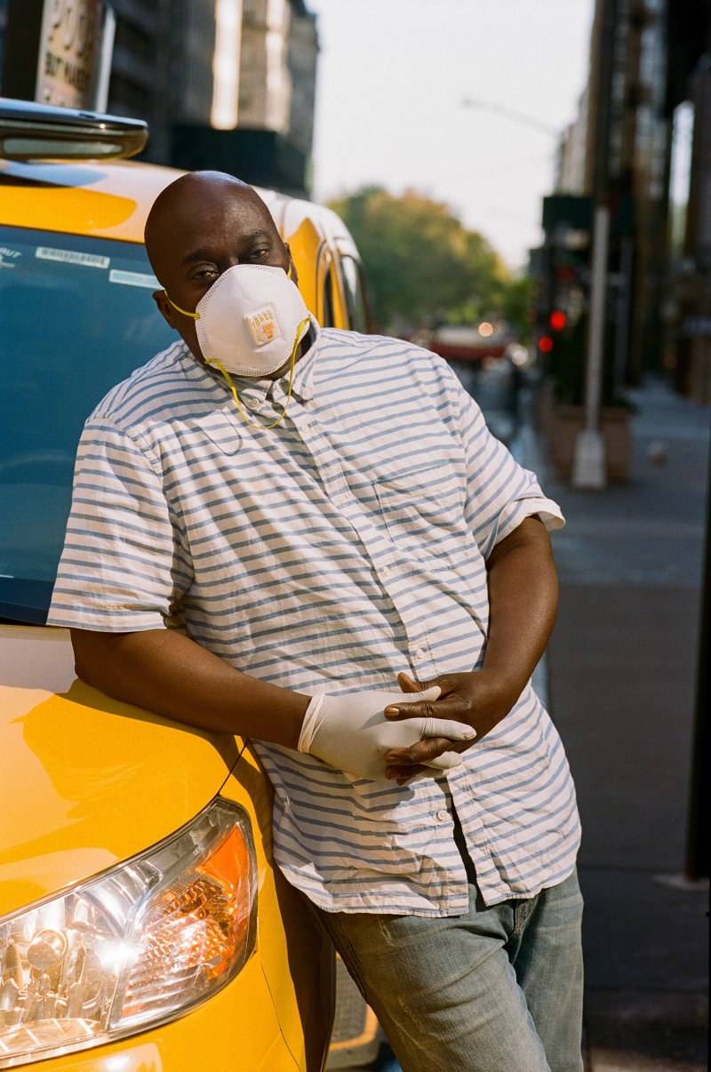 Taxi drivers, like Jacob Smith, pick up many passengers from hospitals and have to buy their own face masks, sanitizers and gloves.  I'm more cautious,  Smith says.
