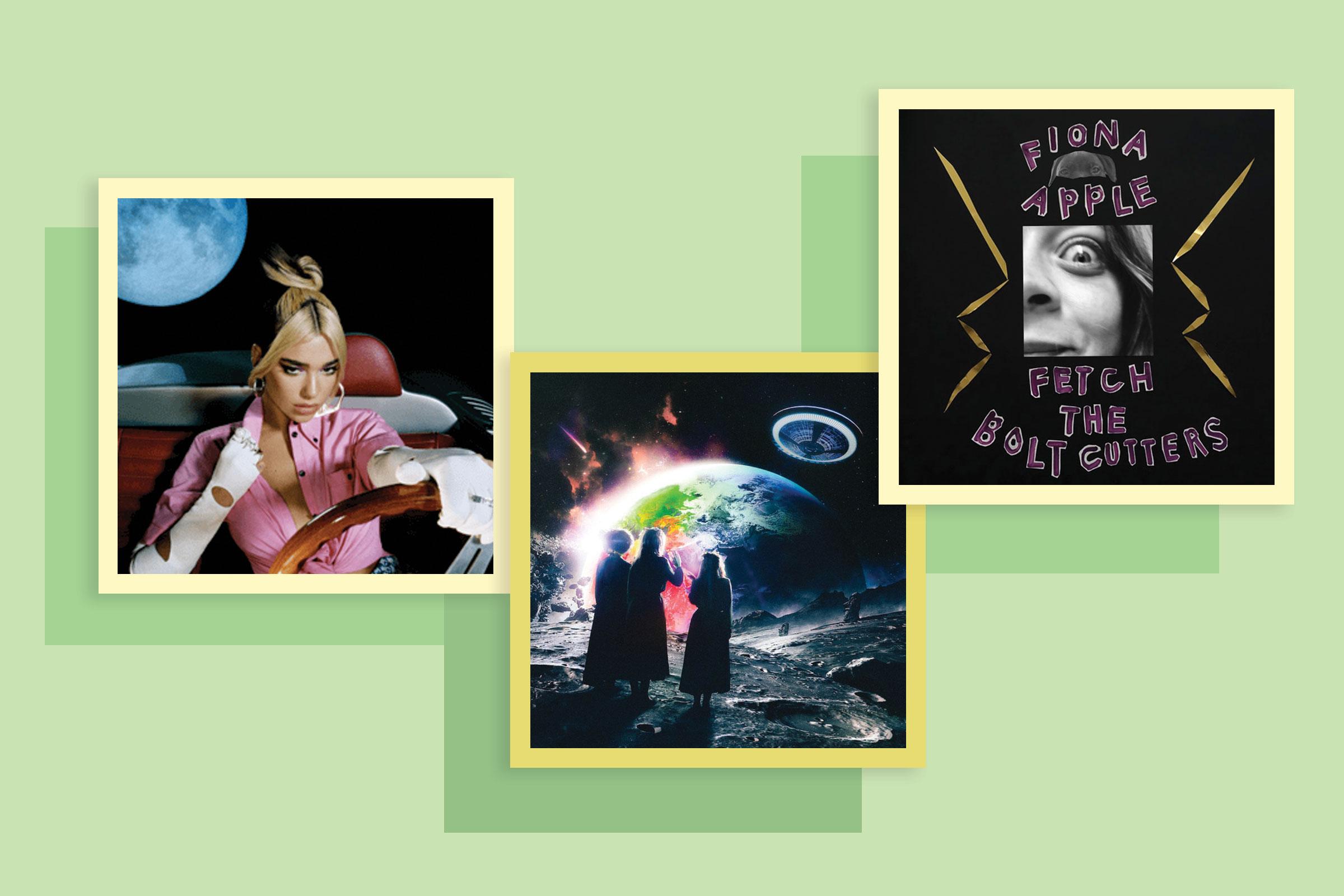 Dua Lipa, Future Nostalgia; Lil Uzi Vert, Eternal Atake; Fiona Apple, Fetch the Bolt Cutters