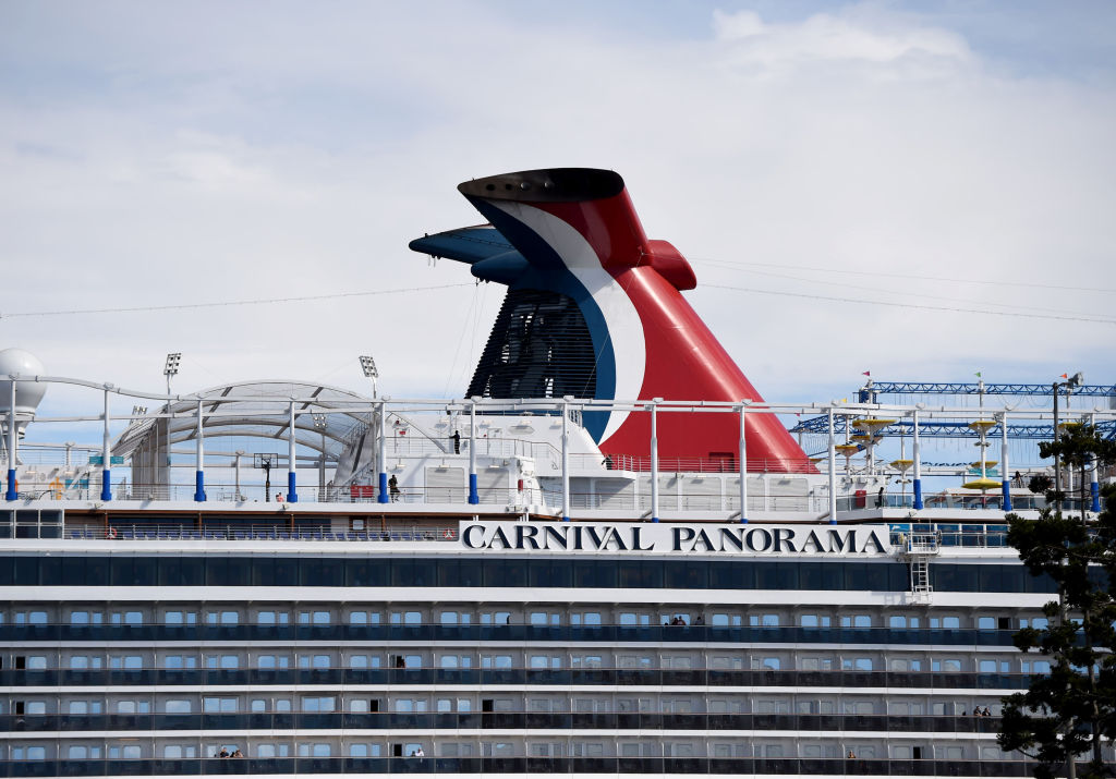 Travelers trying to board the Carnival Panorama cruise ship for a 7 day trip were met with a delay in Long Beach on March 7, 2020.