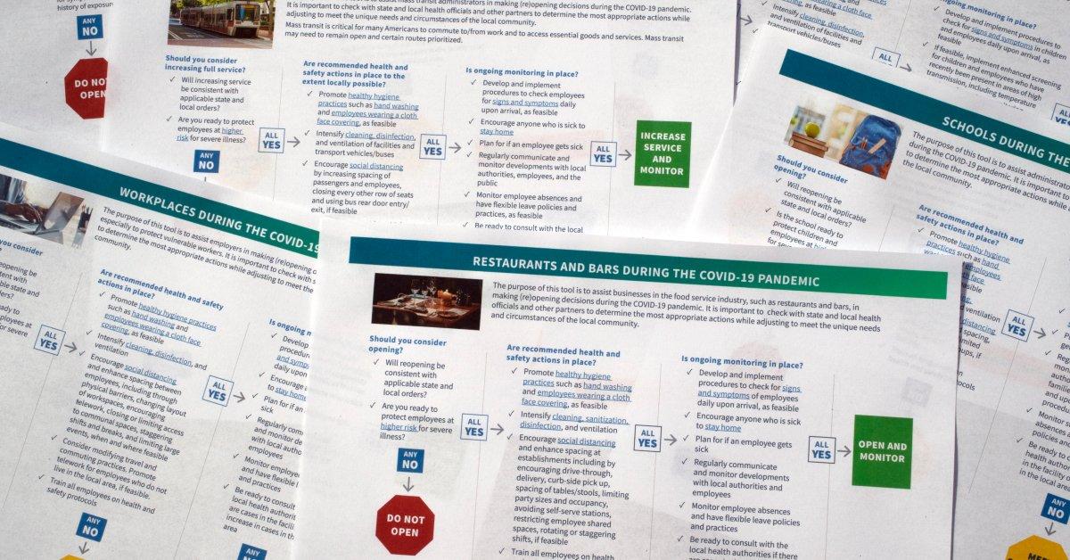 CDC выпускает «Инструмент принятия решений» Руководство по оказанию помощи школам и бизнесу, когда государства вновь открываются thumbnail
