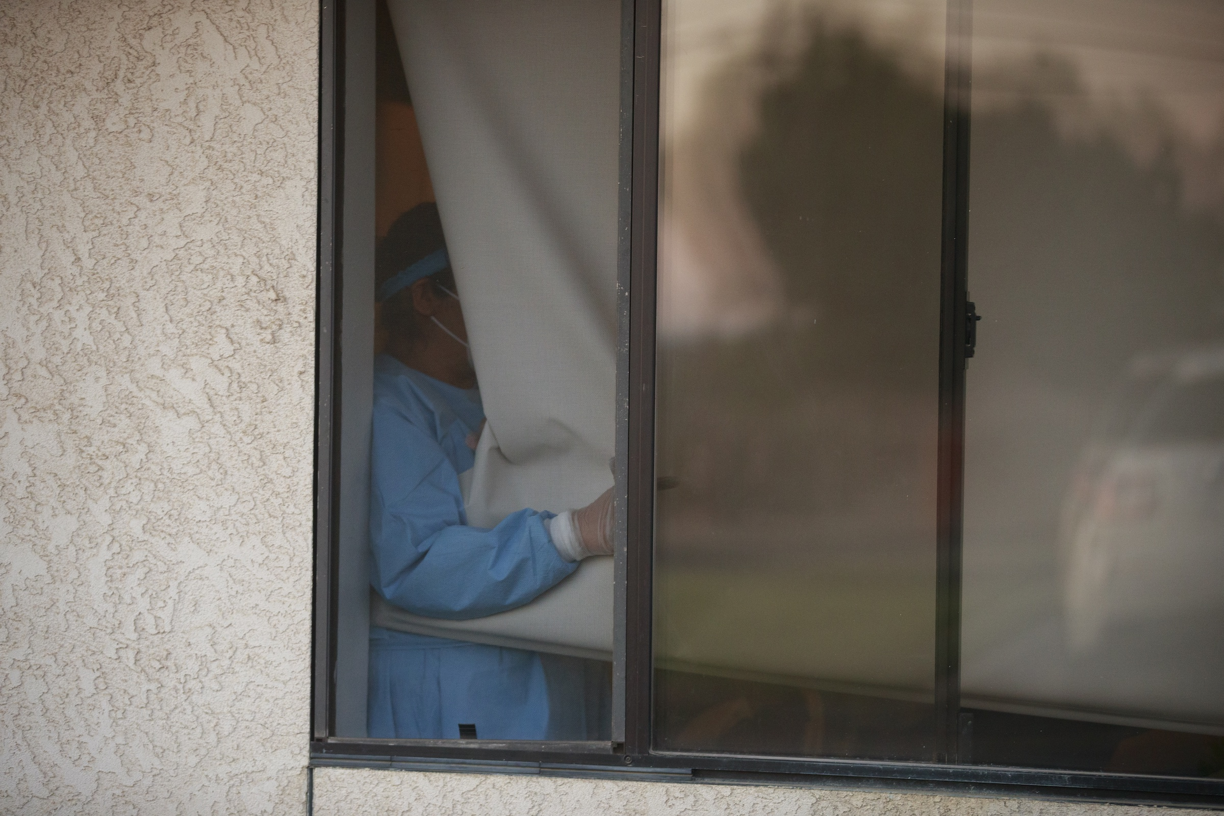 A nursing home in California in April. Deaths in long-term care facilities now make up at least one third of coronavirus fatalities in most states.