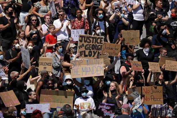 Britain Minneapolis Police Death Protests