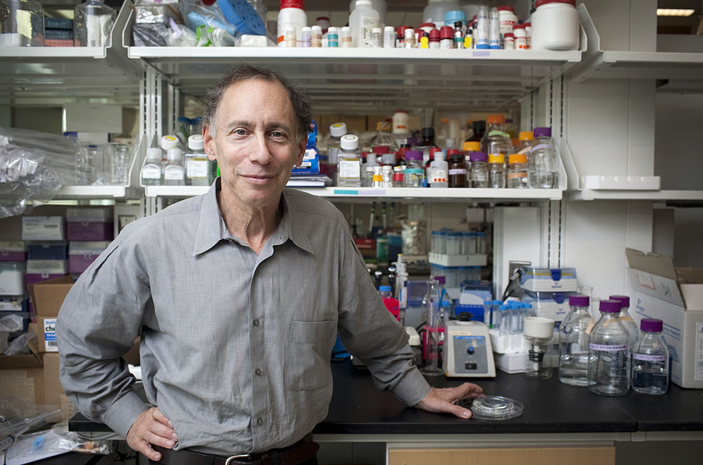 Bob Langer, a professor at the Massachusetts Institute of Technology (MIT), stands for a photo at his lab in Boston, Massachusetts, U.S., on Monday, Oct. 31, 2011.