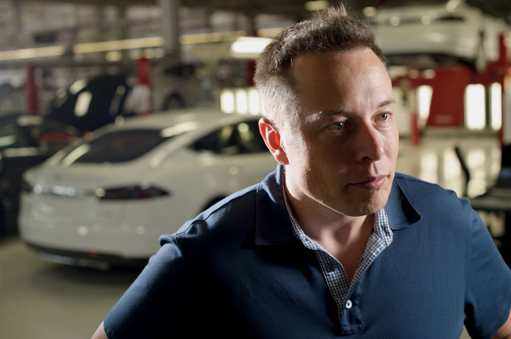 Elon Musk, co-founder and chief executive officer of Tesla Motors, speaks during an interview at the company's assembly plant in Fremont, California, U.S., on Wednesday, July 10, 2013.