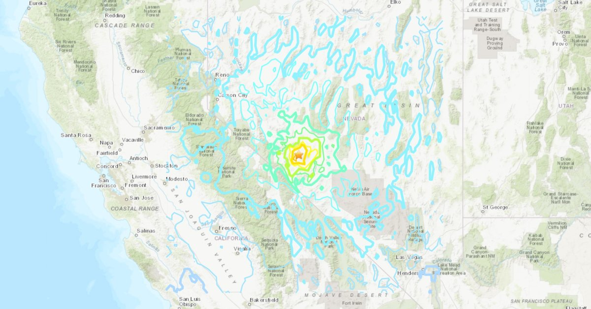 6.4 Magnitude Earthquake Reported in Western Nevada