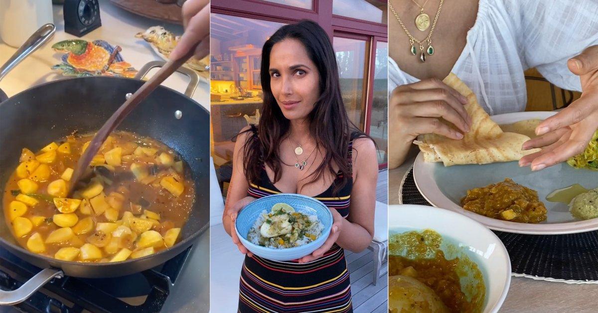 Готовить в карантине с ведущим шеф-поваром Падмой Лакшми означает дегустацию многих народов thumbnail