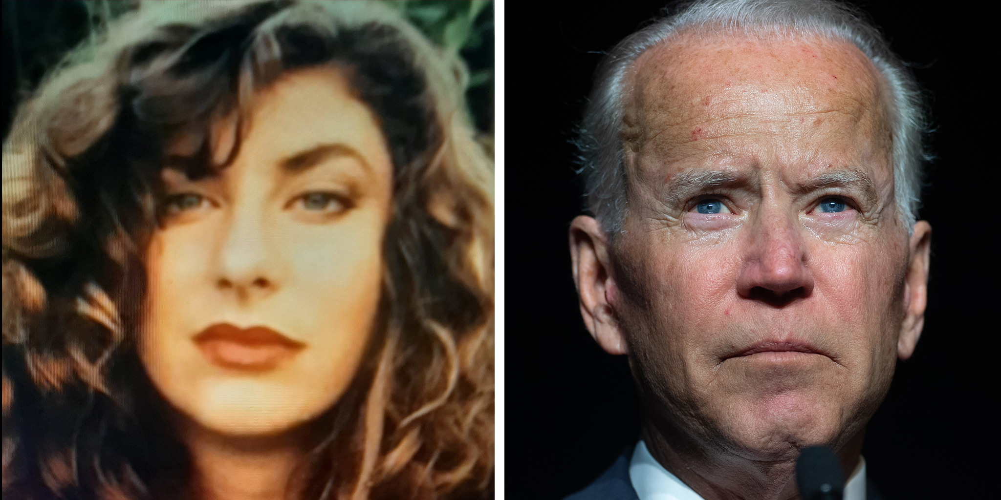 Tara Reade and former US Vice President Joe Biden