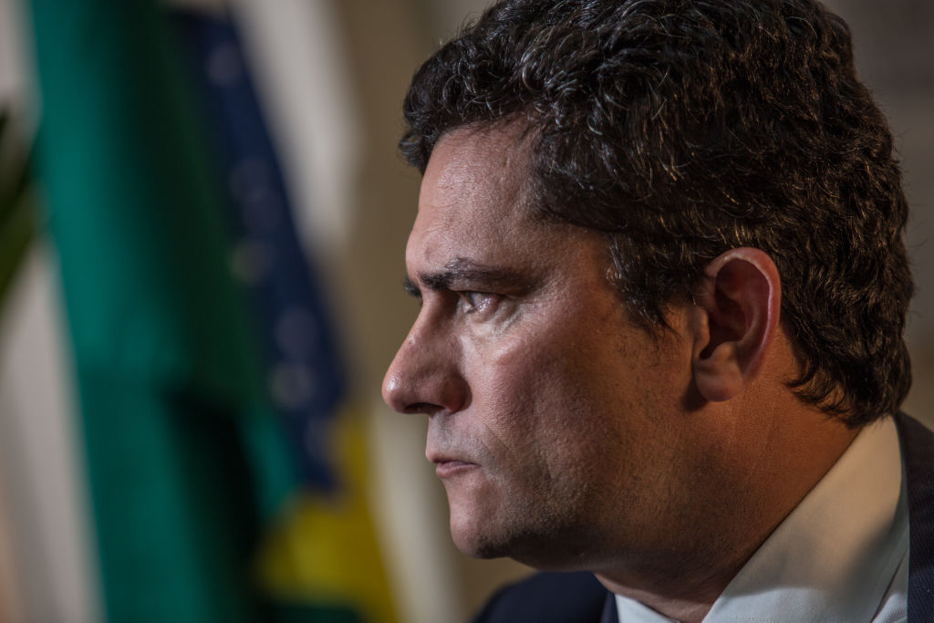 Brazilian Justice Minister Sergio Moro on March 31, 2020 in Brasilia, Brazil.