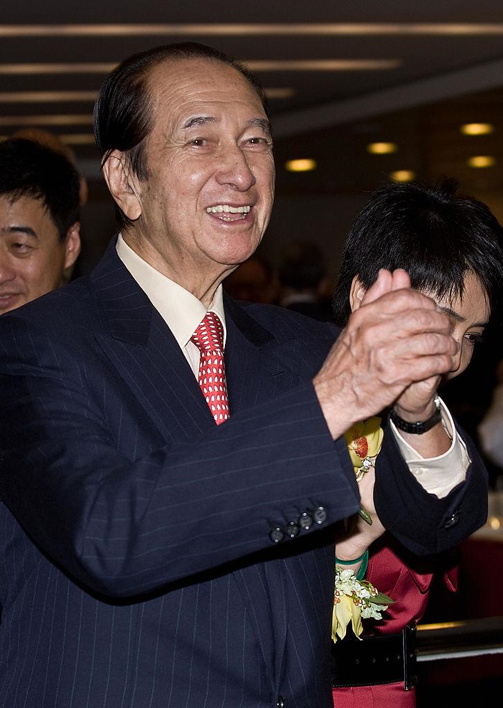 Macau casino tycoon Stanley Ho in Hong Kong on July 16, 2008.
