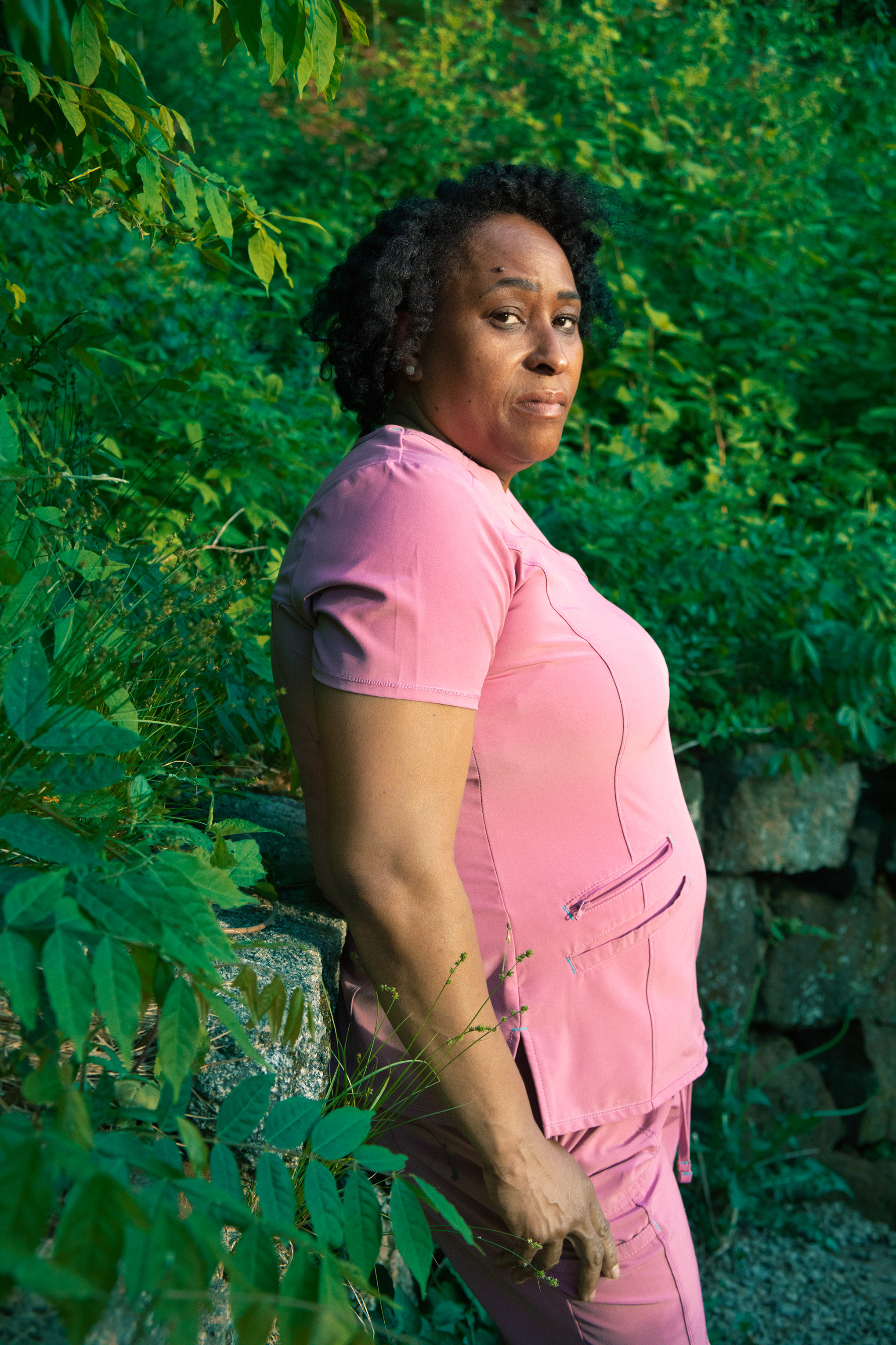 Tanya Beckford near her home in Manchester, Conn., on May 27.