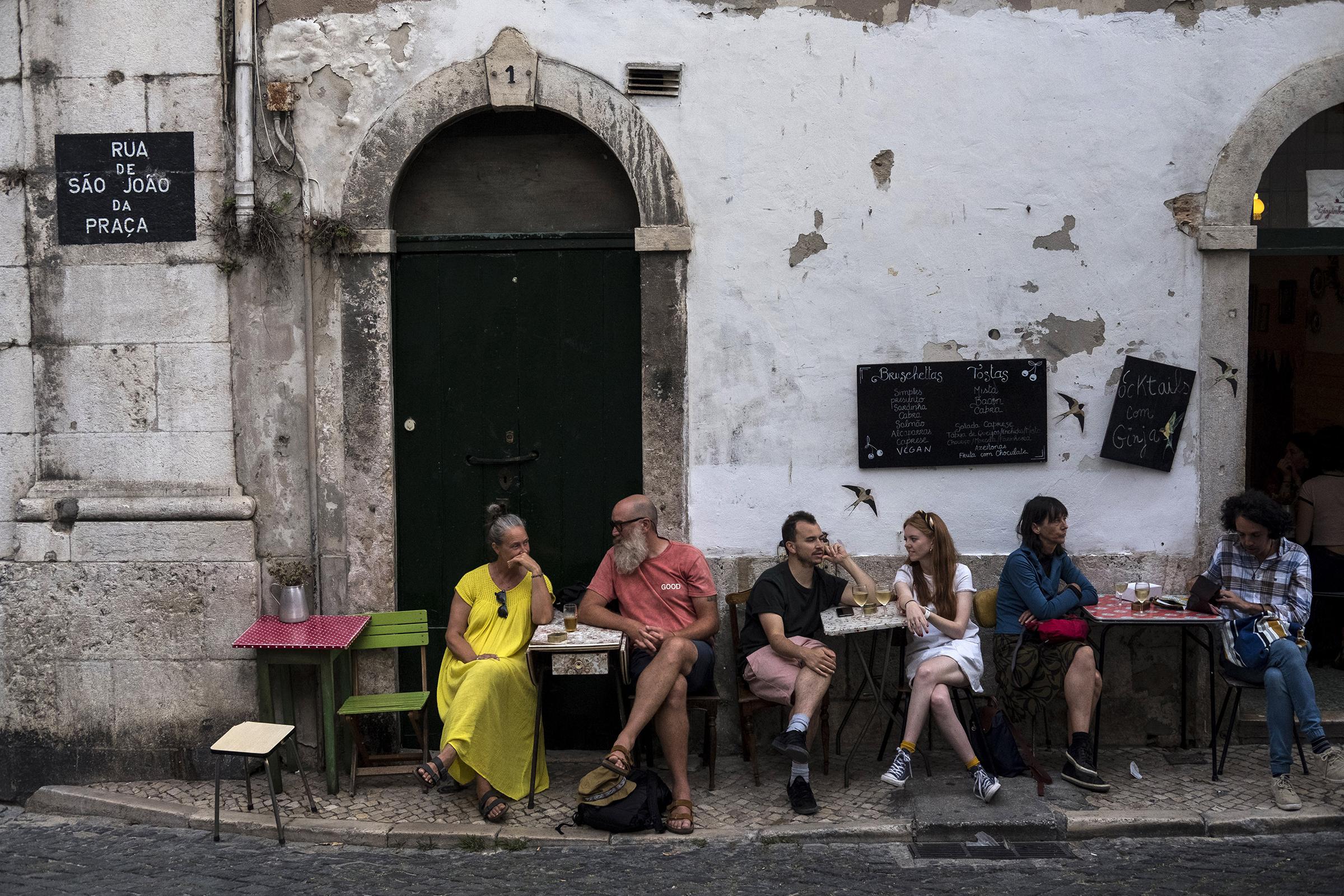 A street in the Alfama neighborhood of Lisbon, Portugal, on Sept. 28, 2019.