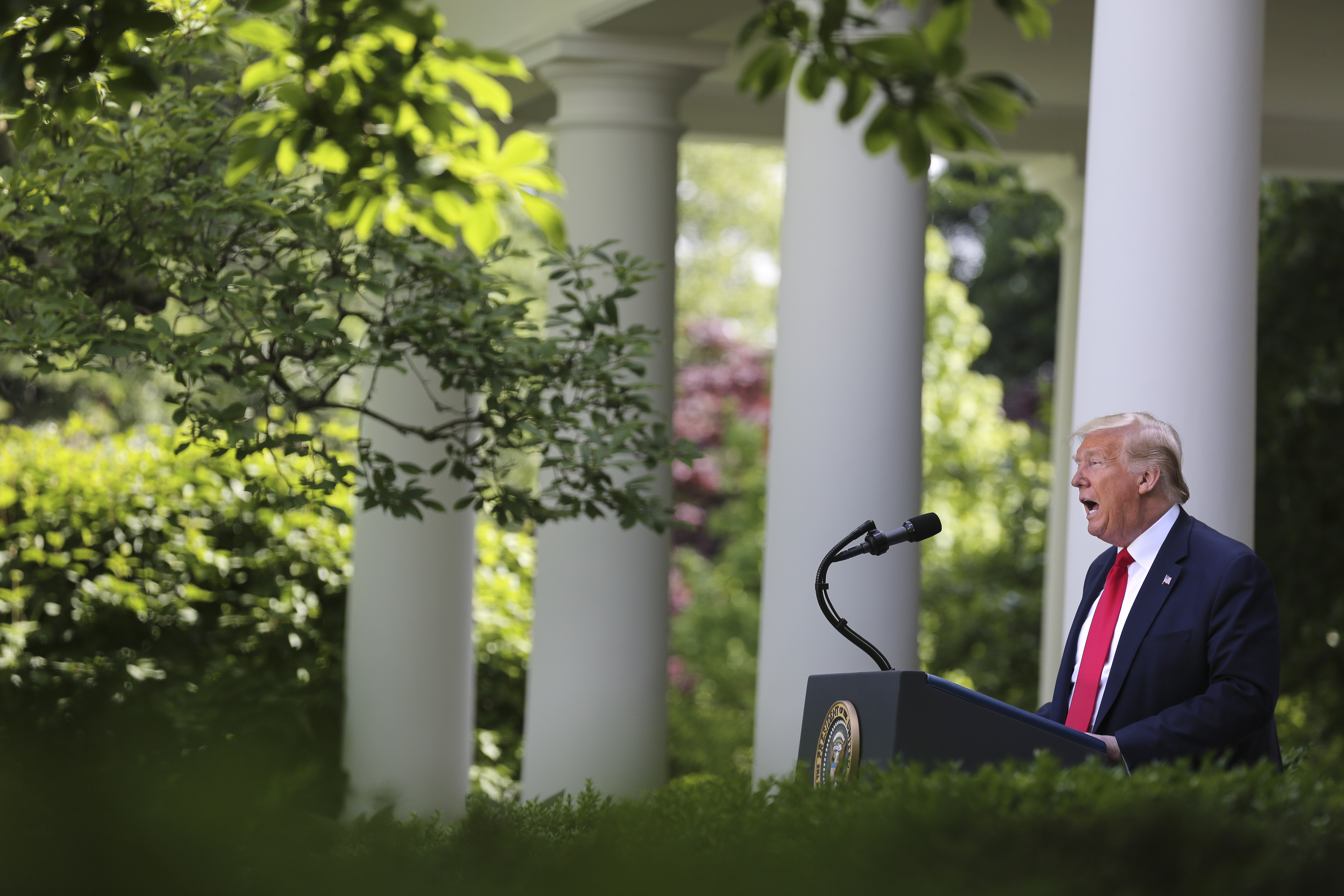 President Donald Trump speaks during an event at the White House in Washington, D.C. on May 26, 2020.