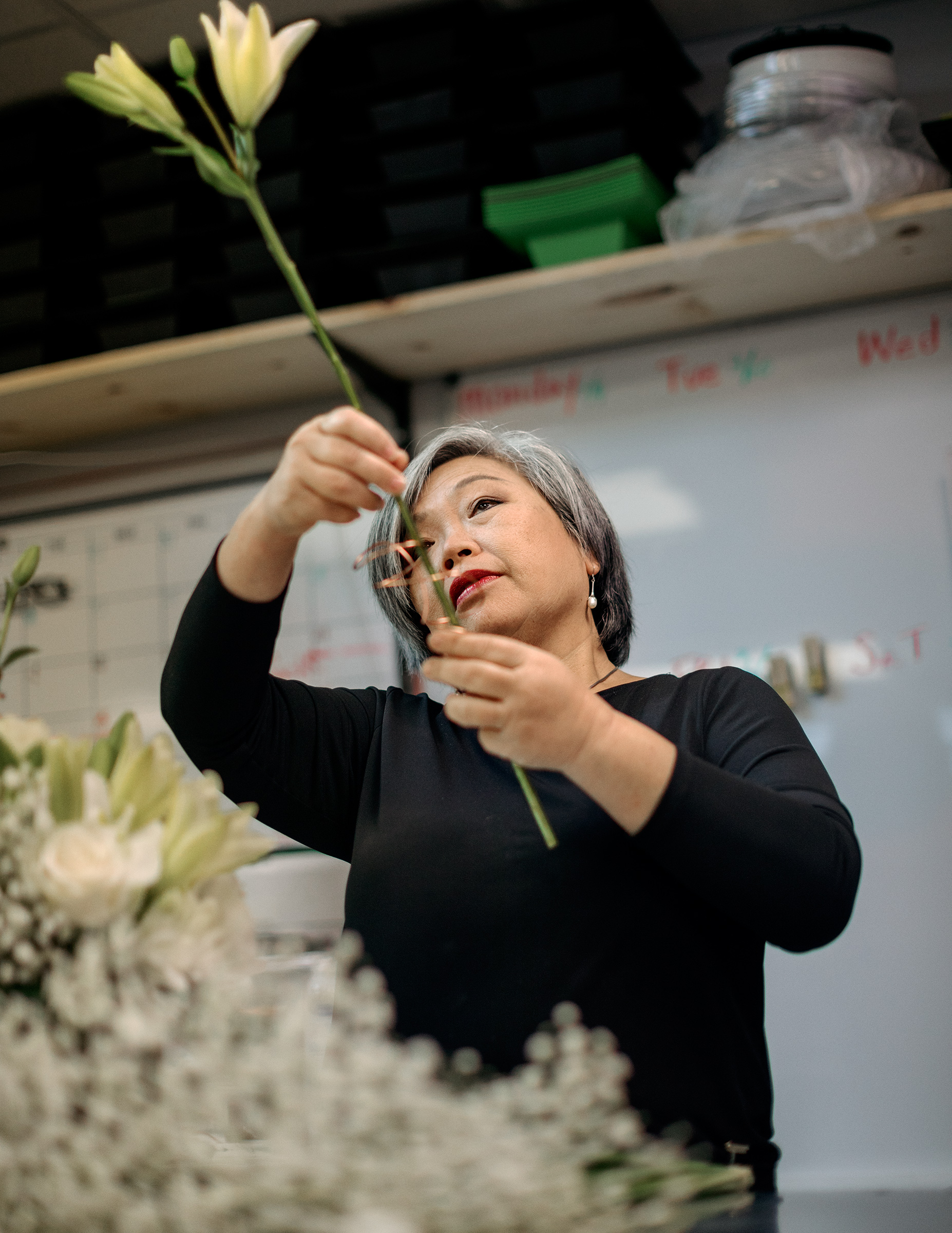 "Eileen Cheng, 60, Florist, Fort Lauderdale, Fla. ""Everything just went down to zero,"" says Cheng, who has owned Yacht Flowers with her daughter since 2009. The shop primarily provided arrangements to private yachts, but few people are making use of luxury pleasure cruisers lately. Cheng is worried about what this could mean for her retirement: ""I'm asking myself, Am I able to recover?"""