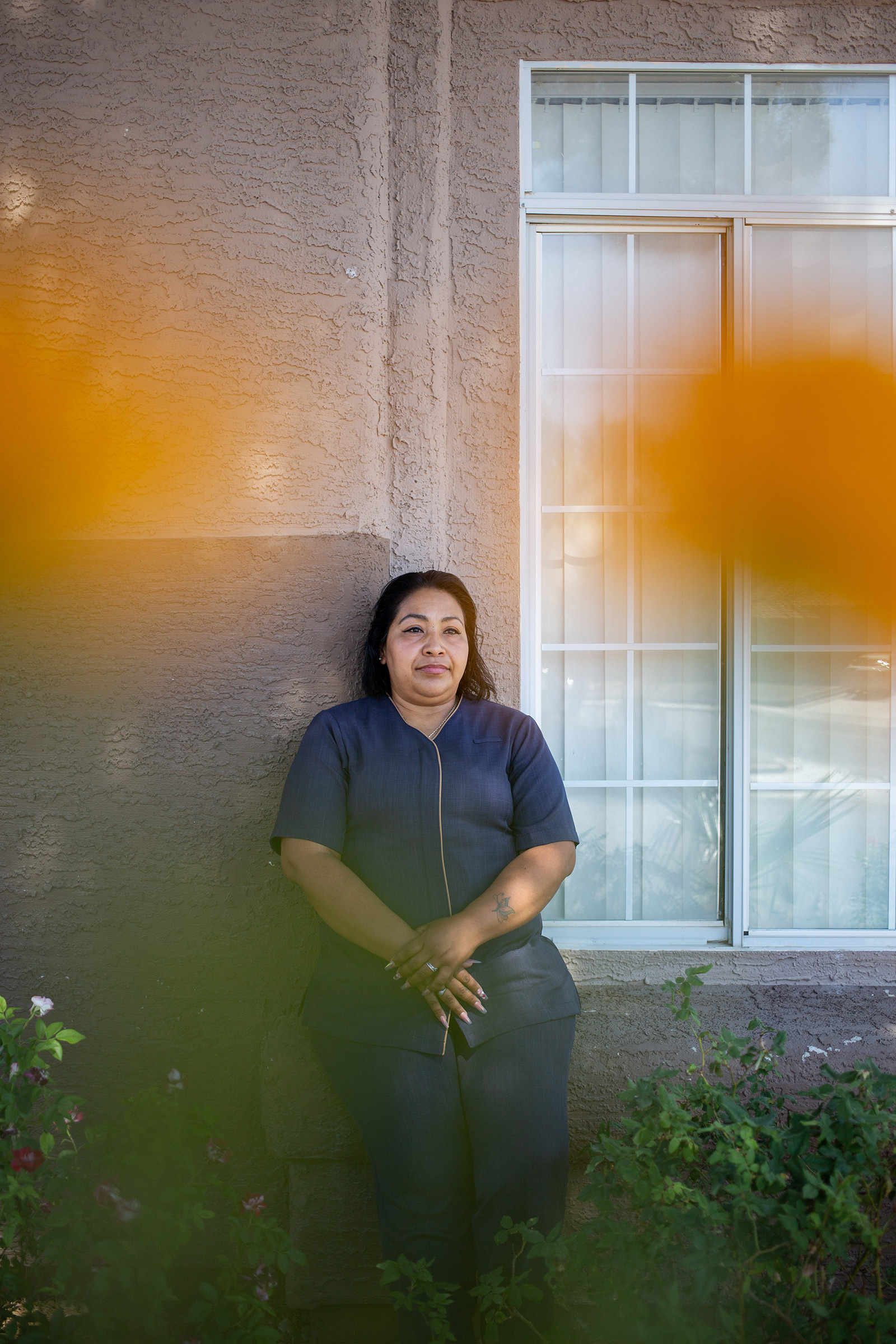 "Gladis Blanco, 40, Guest-room Attendant, Las Vegas. Blanco's last day of work at the Bellagio was March 17, and she received only two weeks of pay from the company when she was laid off. Since then she's been living on savings and taking care of her son, 14, and daughter, 17. ""It's good to have more time with them,"" she says, ""but we have bills to pay."""