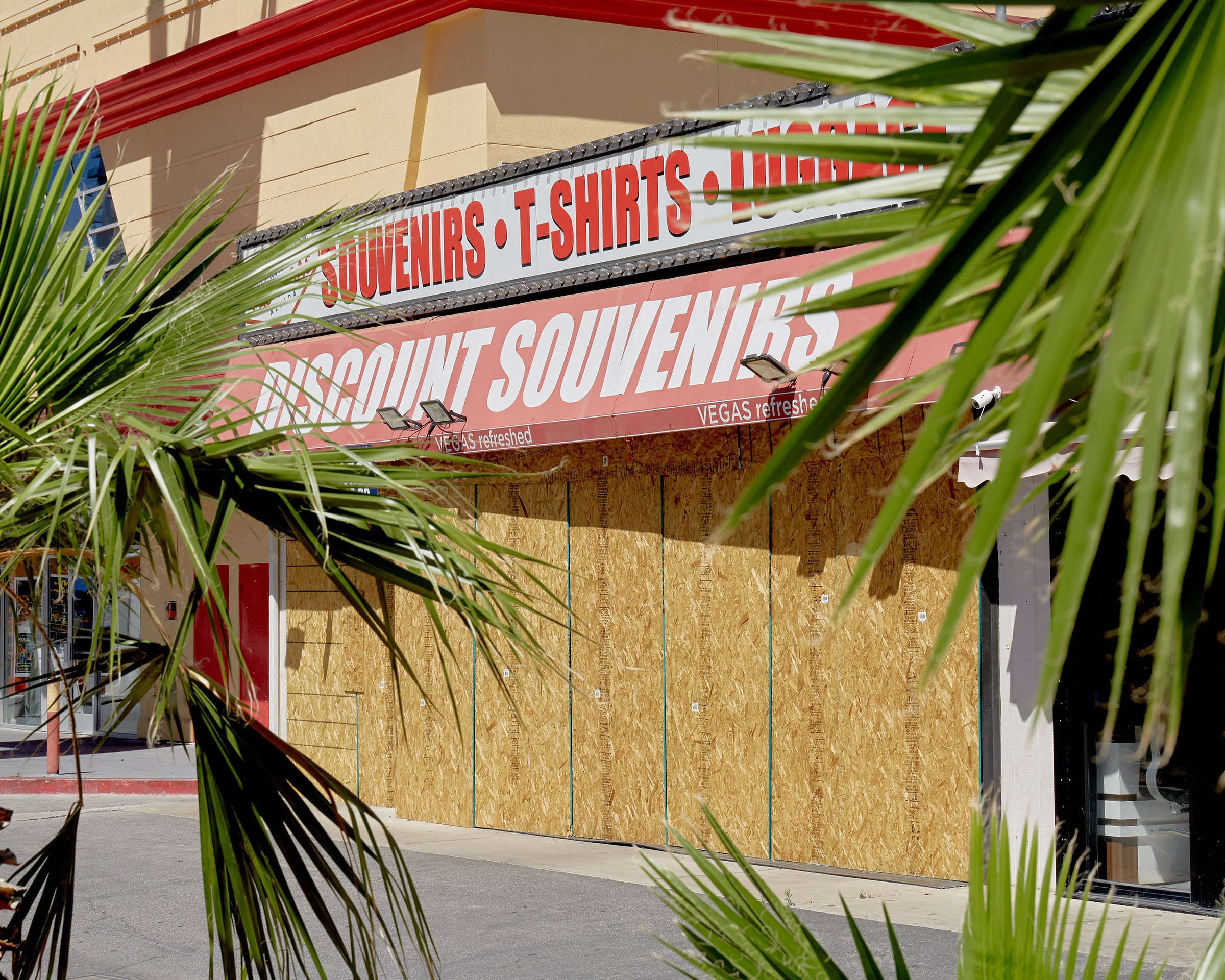 A boarded-up storefront in Las Vegas, in May, where the jobless rate is estimated at 25%